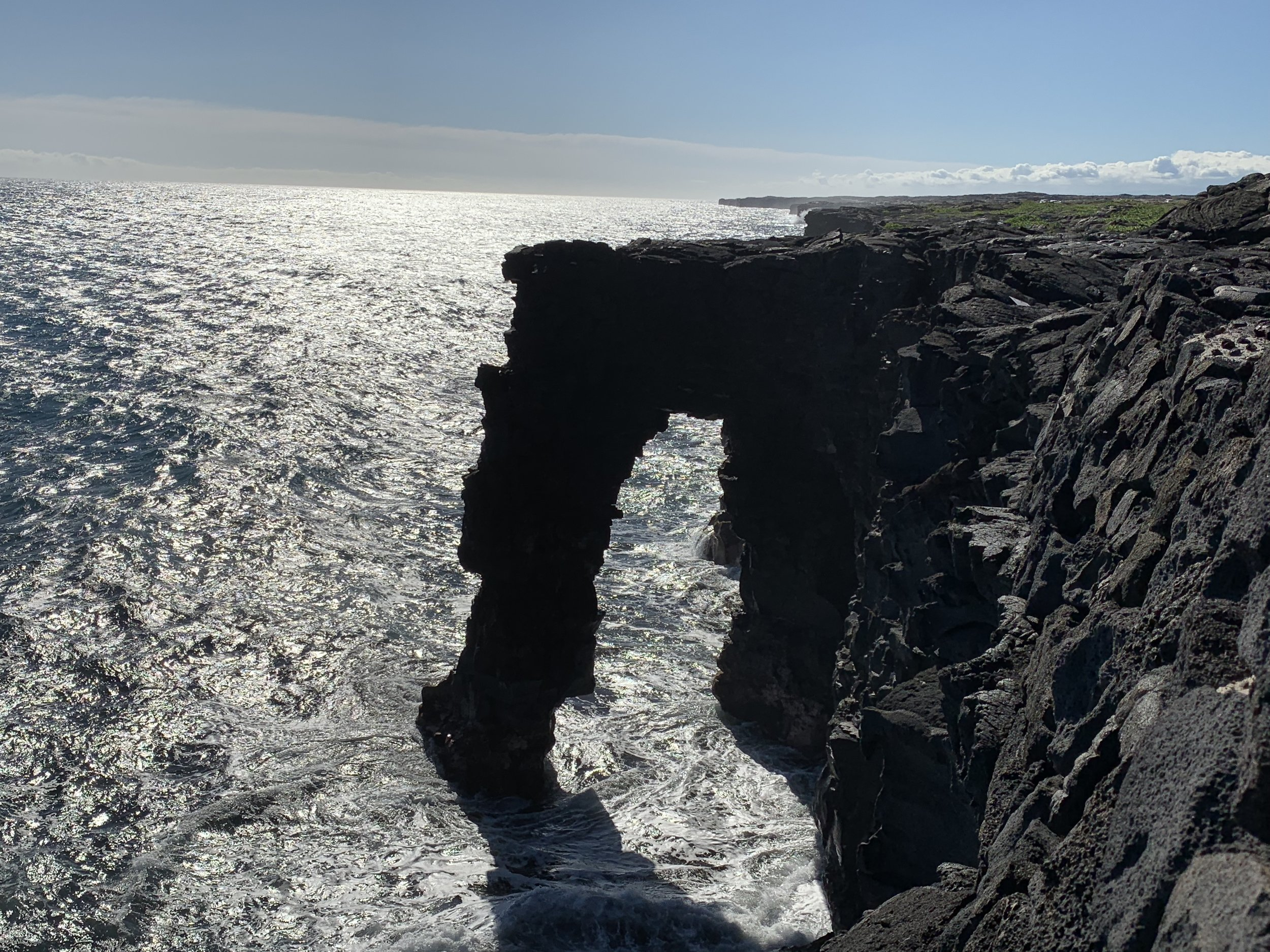 Chain of Craters Road ends at the Holēi Sea Arch—a lovely spot to watch the waves.