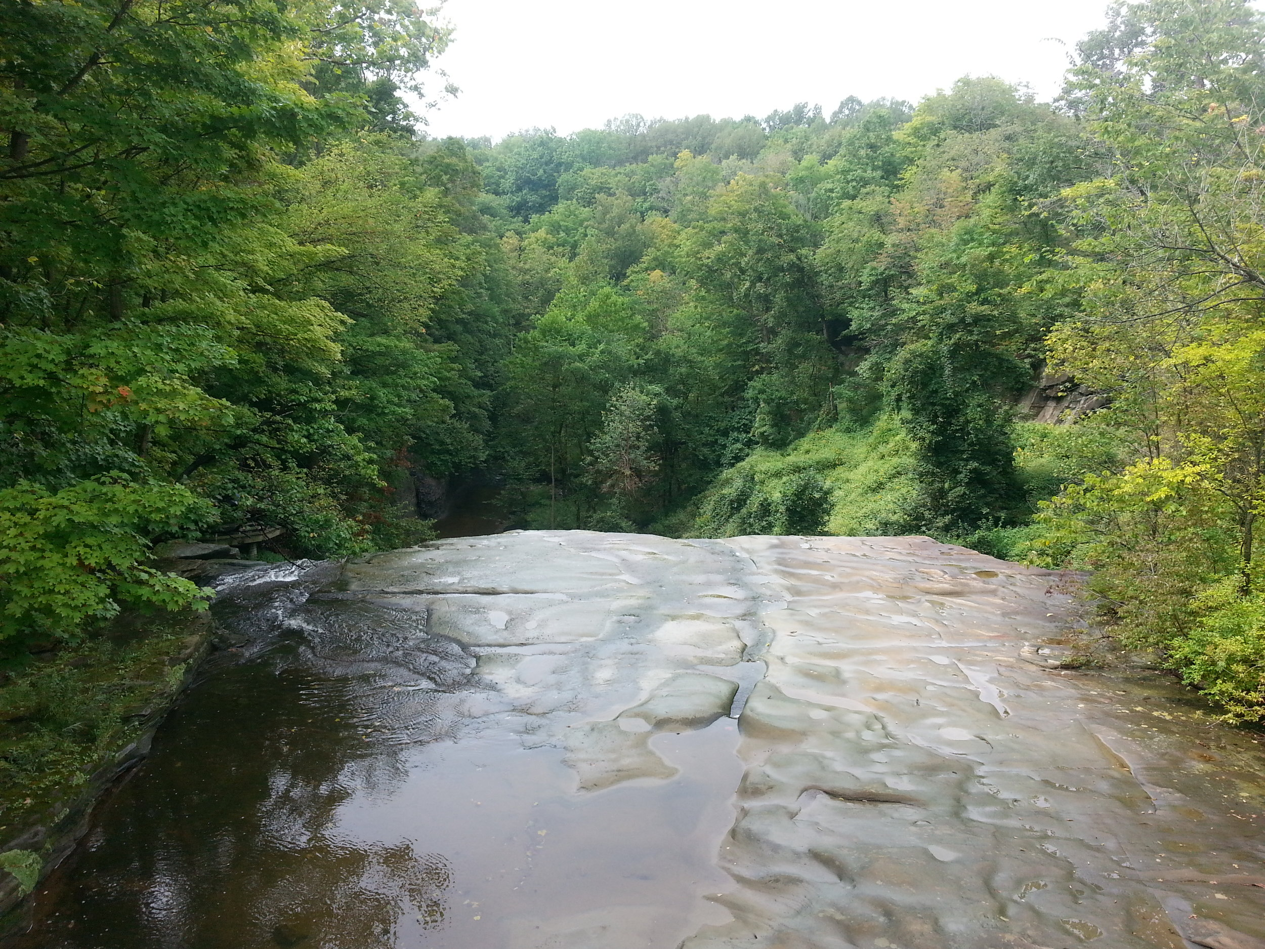 The view from behind Brandywine Falls. This portion of the trail has since been closed.