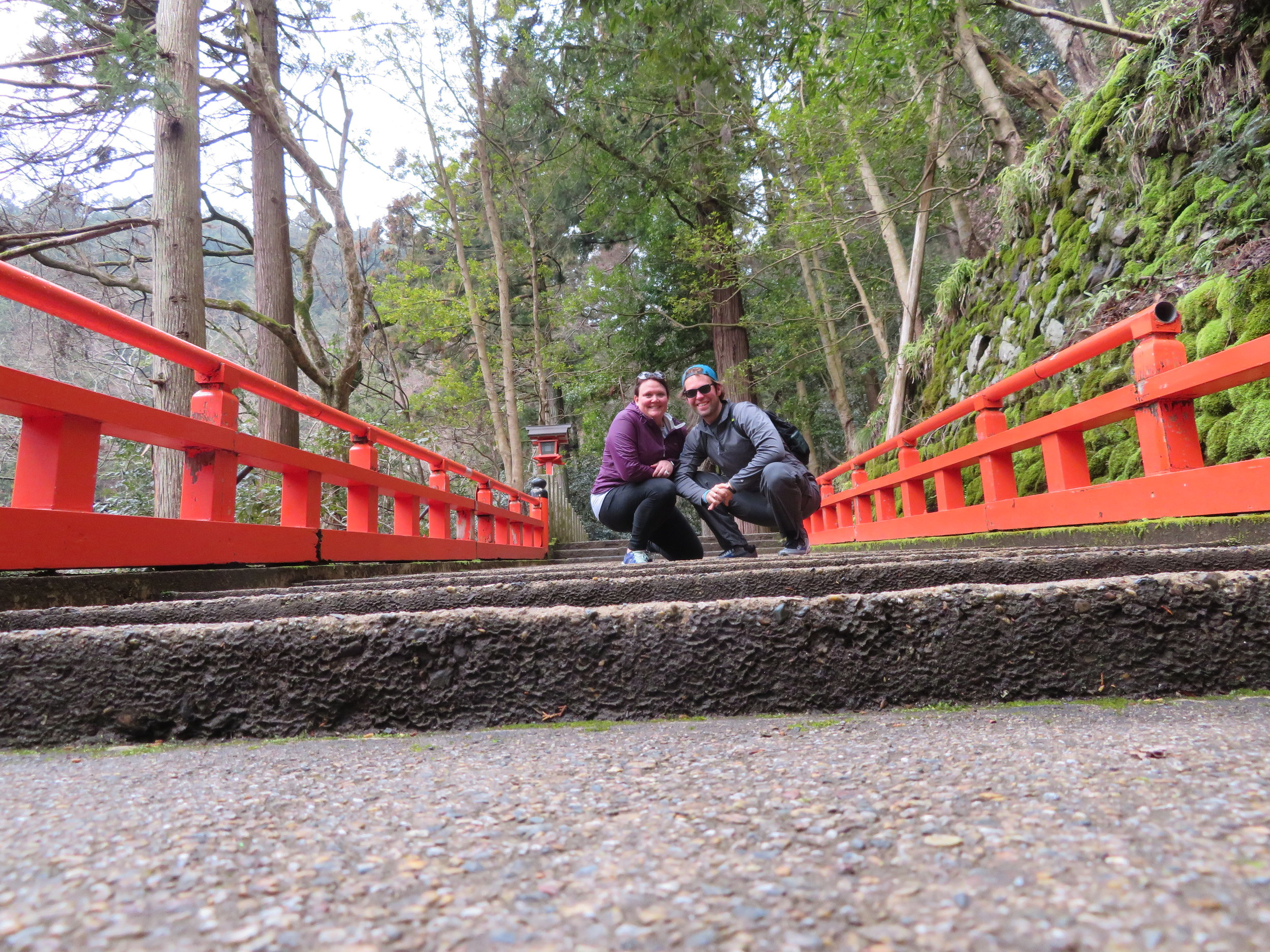 Heading up to the top of the Kurama-Dera Mountain Temple.