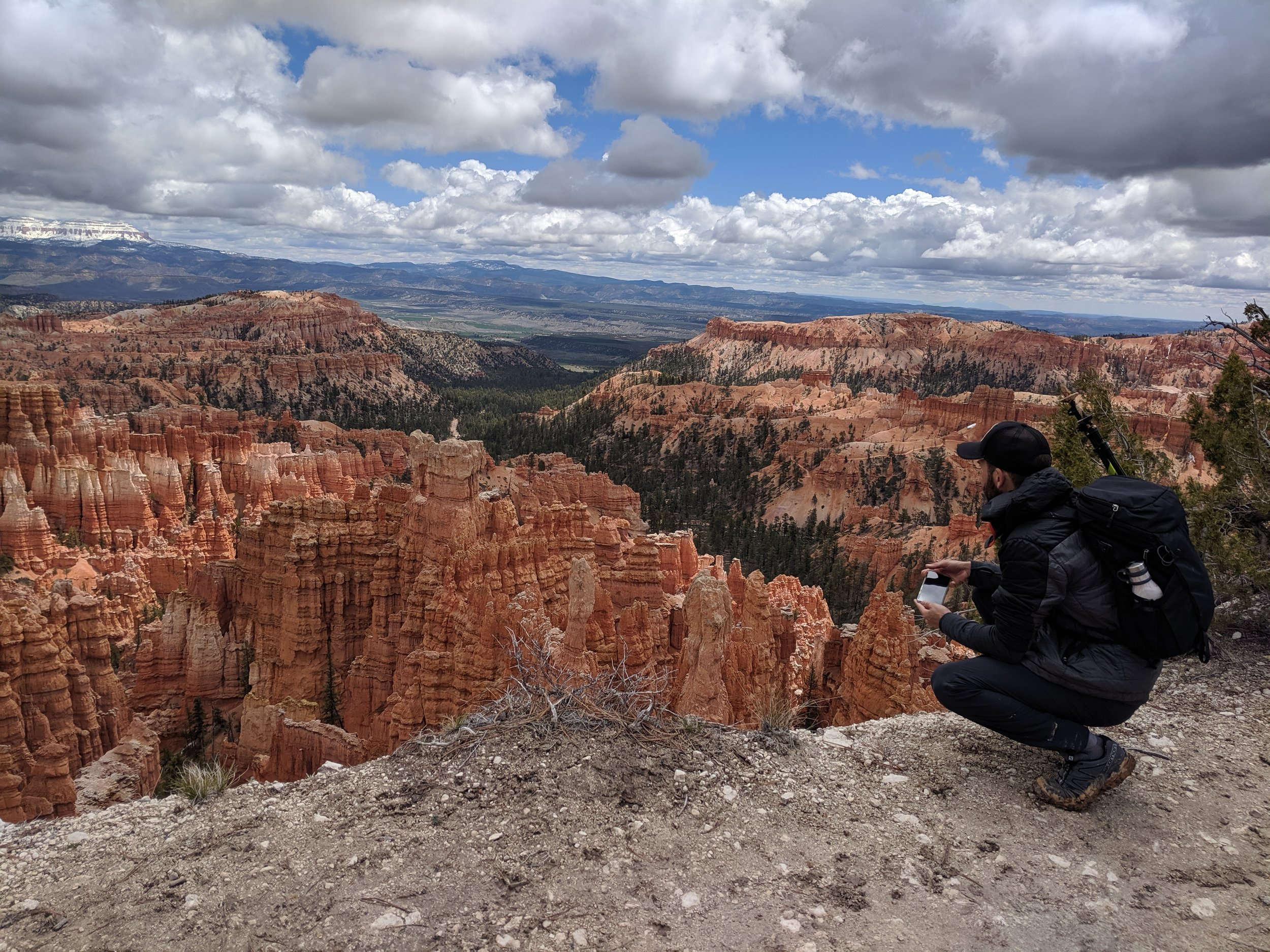 View of the hoodoos on the Rim Trail