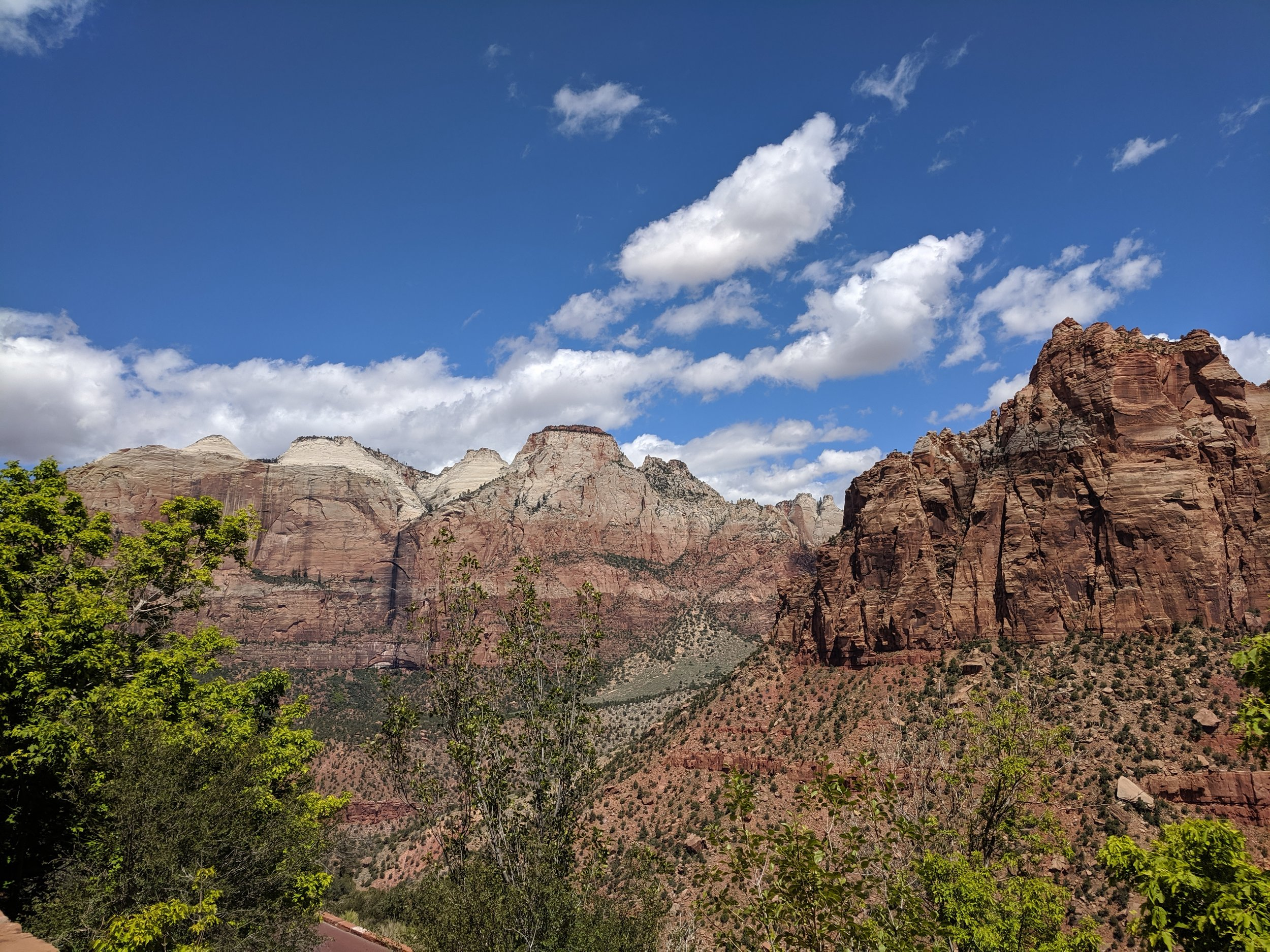 View coming into Zion National Park