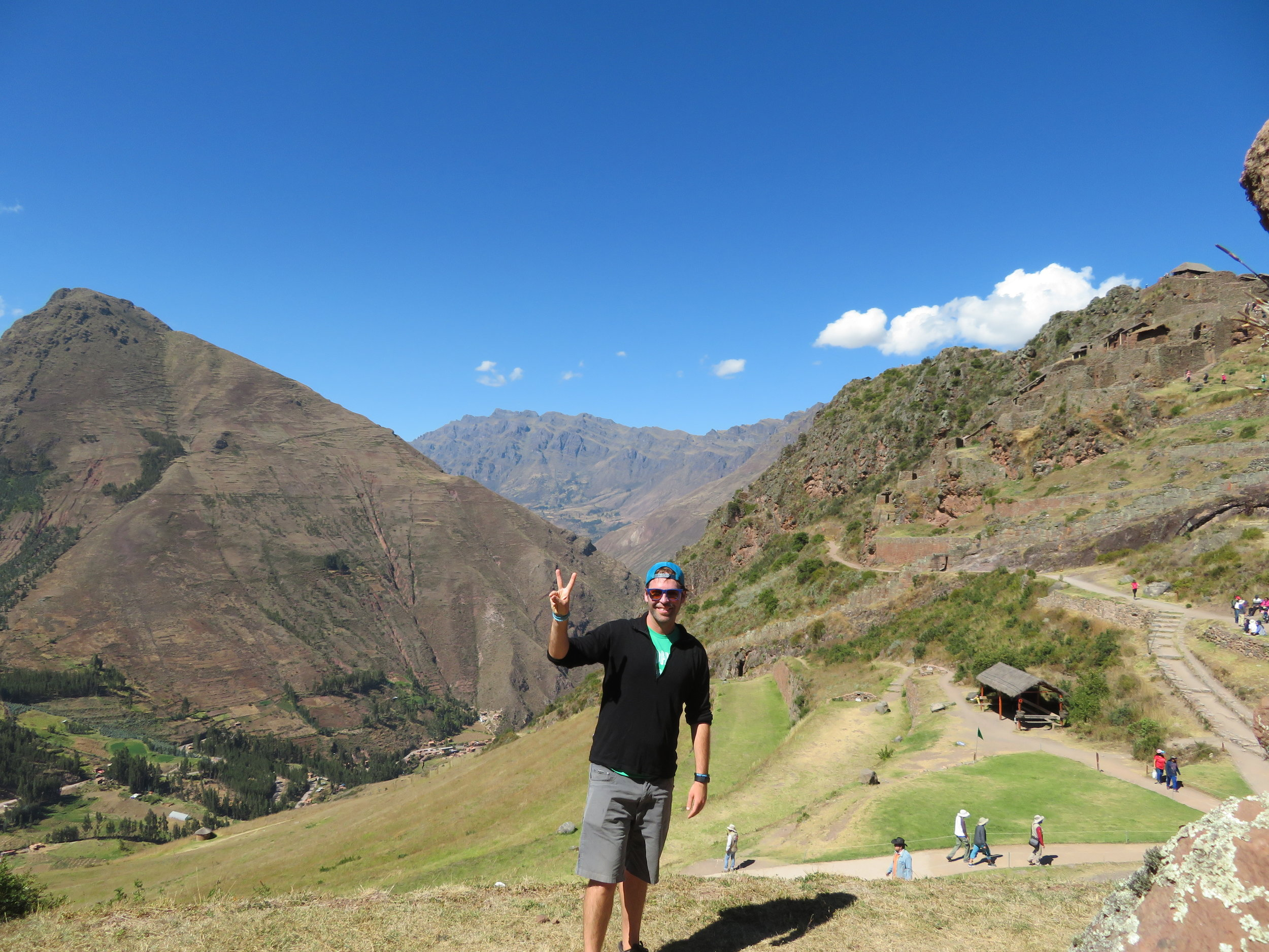The Pisac Ruins in the Sacred Valley of Peru.