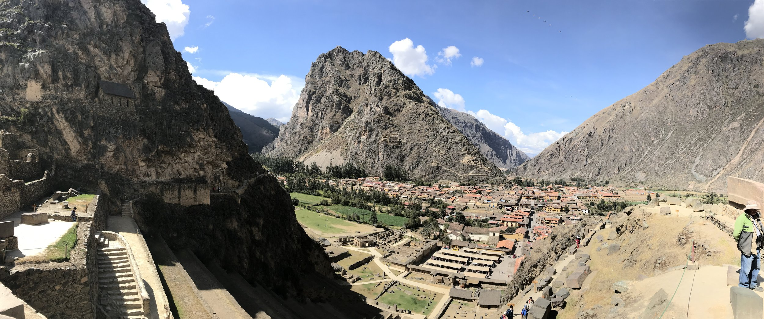 Ollantaytambo from the top of the ruins.