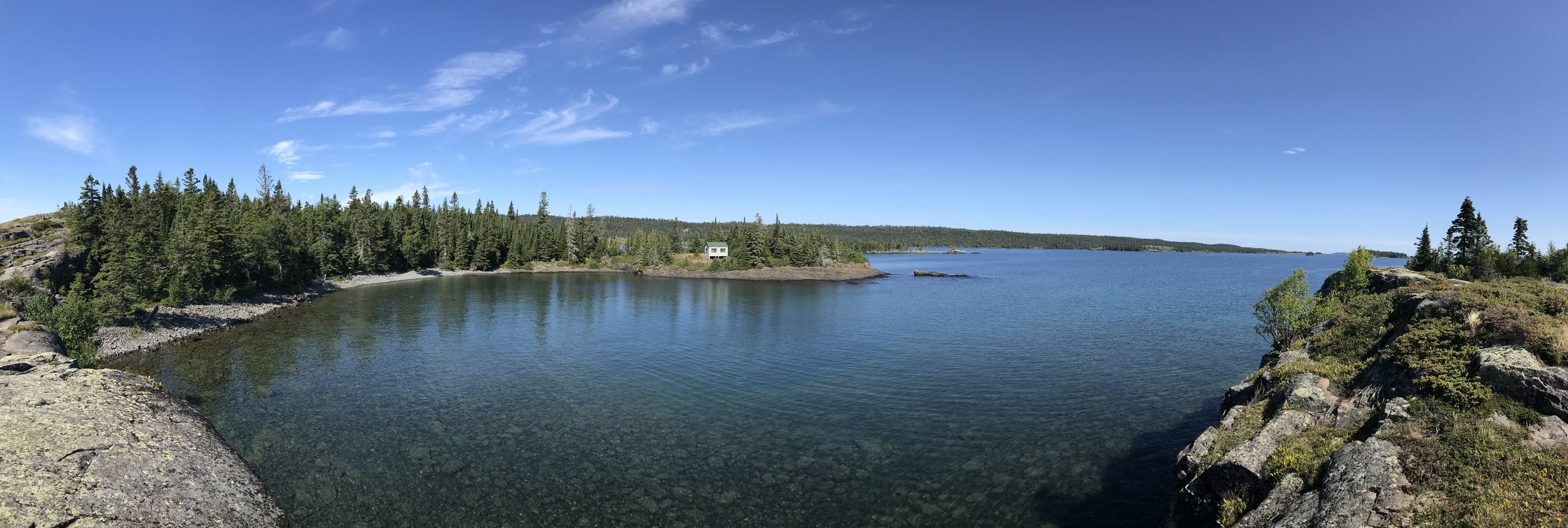 Looking out from Scoville Point on Isle Royale NP. #PureMichigan