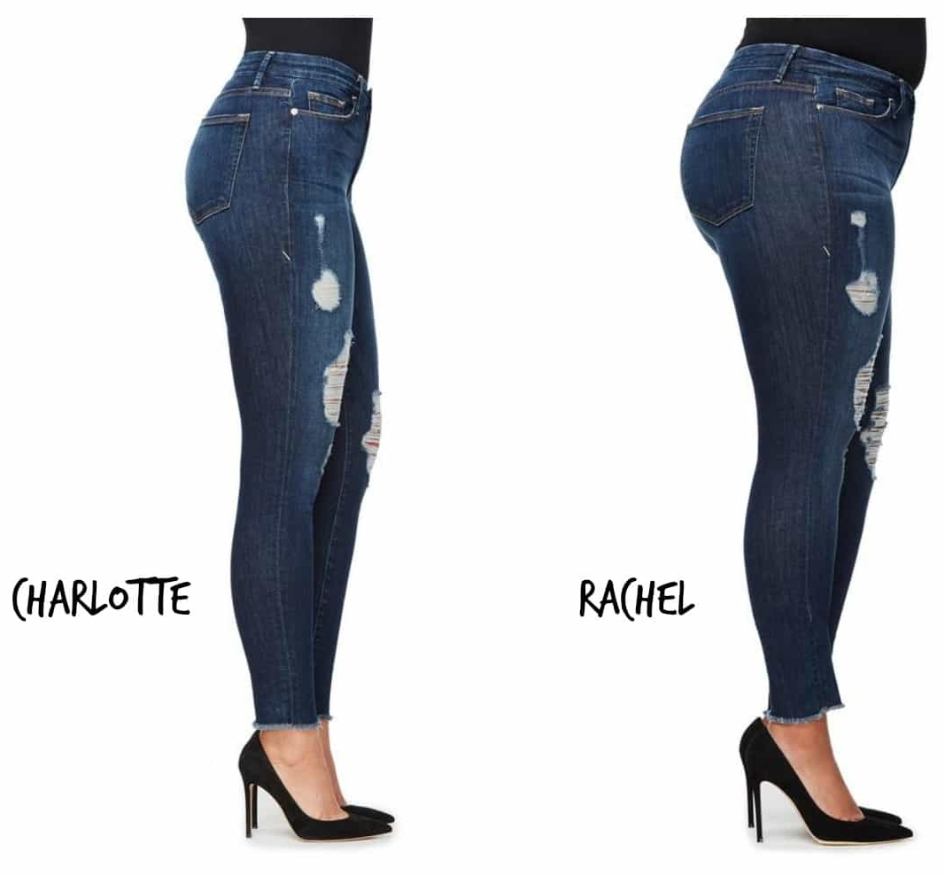 1.Models of different sizes - ...ABOUT TIME! Having big ass curves (literally), being shown a pair of jeans on a size 8, giraffe like model never allows me to imagine how they will look on my figure. I'm looking forward to seeing this being implemented across the ASOS website to help those of us who fall somewhere in between model size and plus size shop more easily! I first saw this refreshing idea on Khloe Kardashian's website Good American, showing each style of jeans on 3 different sized models. GENIUS!