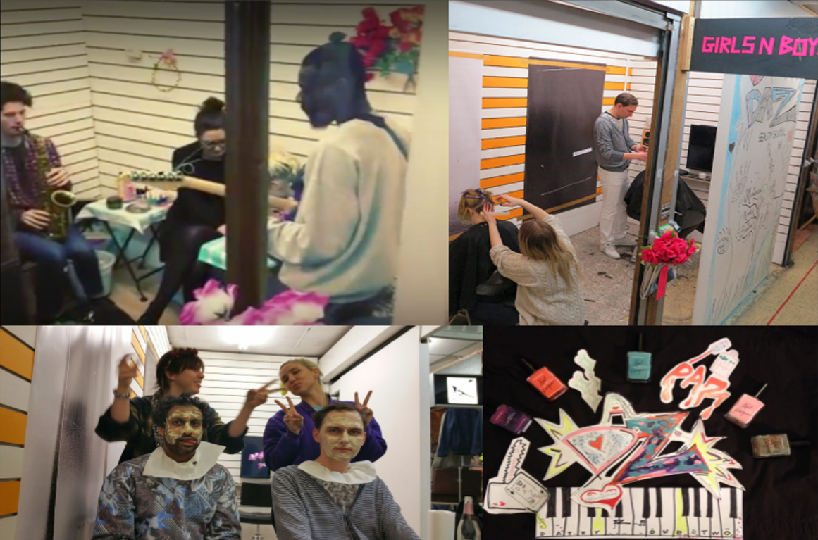 EP Presents: Beauty School Dropout at DKUK Salon, Peckham, London, February 20, 2015. This was a one day organized with artist Zoe Marden, in collaboration with Daniel Kelly of artist run space DKUK Salon, which featured haircuts, manicures, homemade face-masks, and live music.