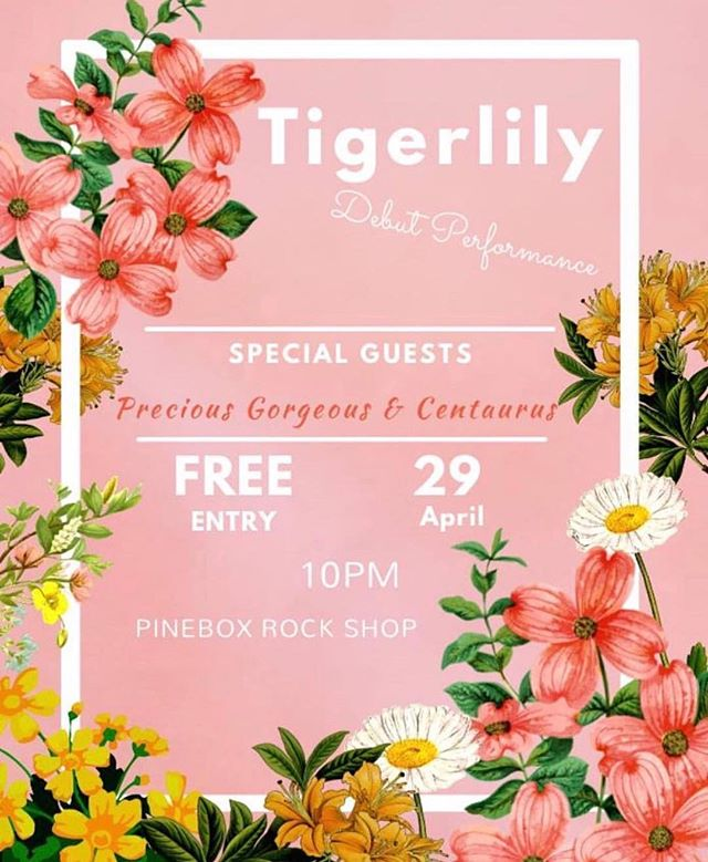 We are stoked to support our good friend Tigerlily at her debut show this Sunday at @pineboxrockshop  Free show, great music, high fives all around. . . . . . . . #freemusic #debut #pinebox #indieartists #newmusic