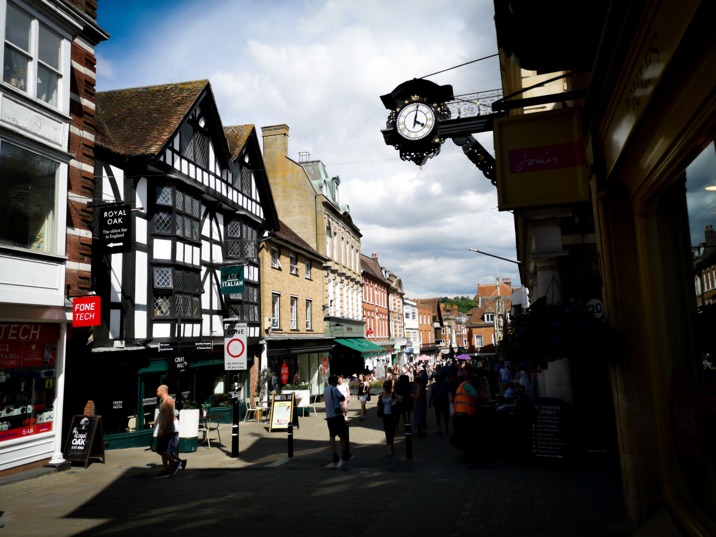 Winchester High Street During the Hat Fair by Hampshire Photographer Evie Winter