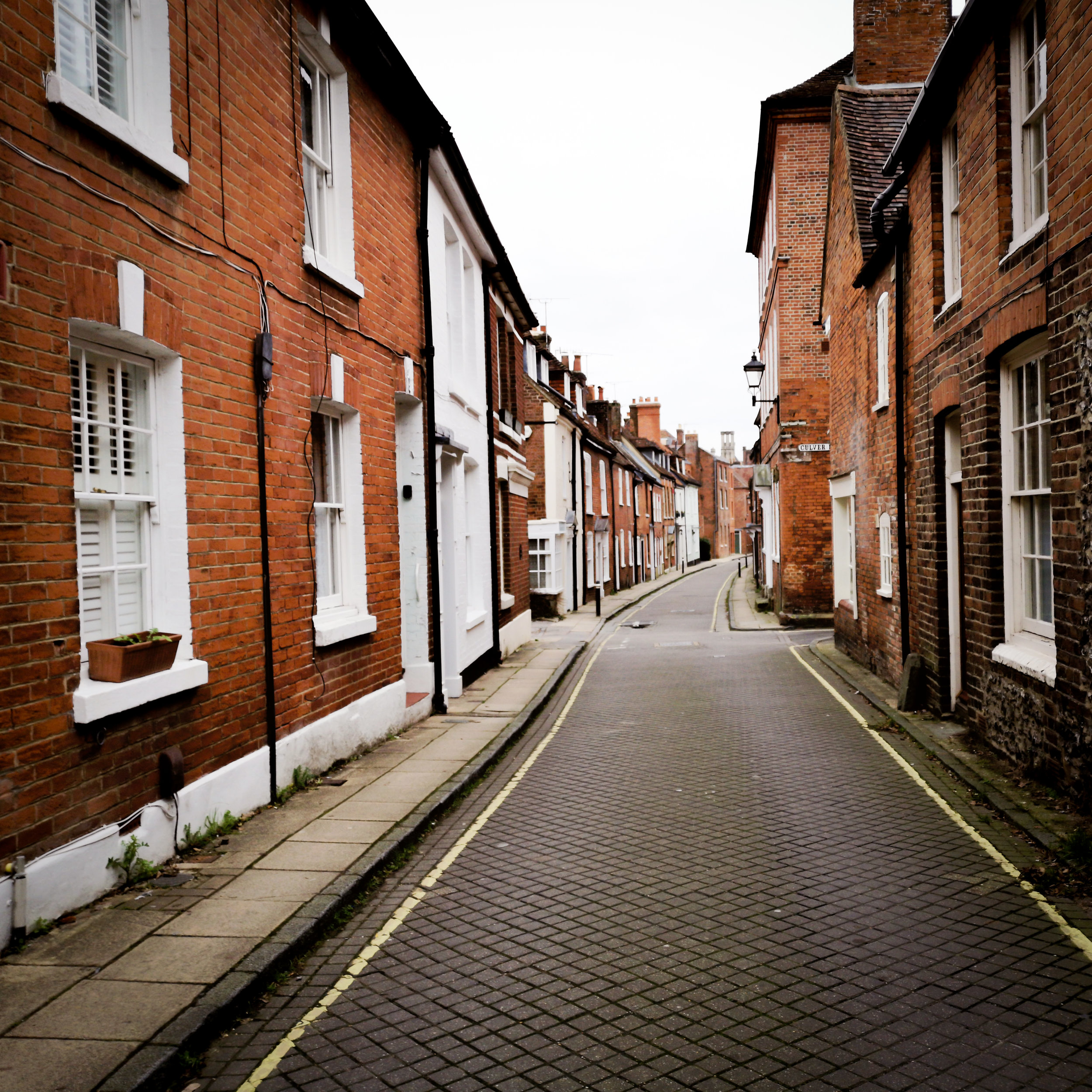 Canon street near Winchester Cathedral by Winchester Photographer Evie Winter