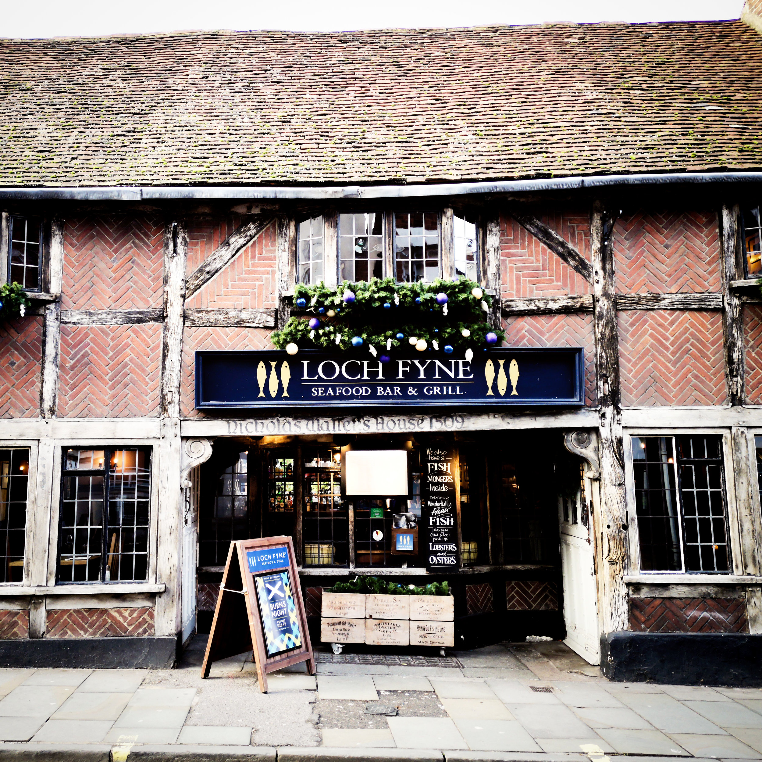 Loch Fyne is one of Winchester's many great restaurants by Hampshire Photographer Evie Winter