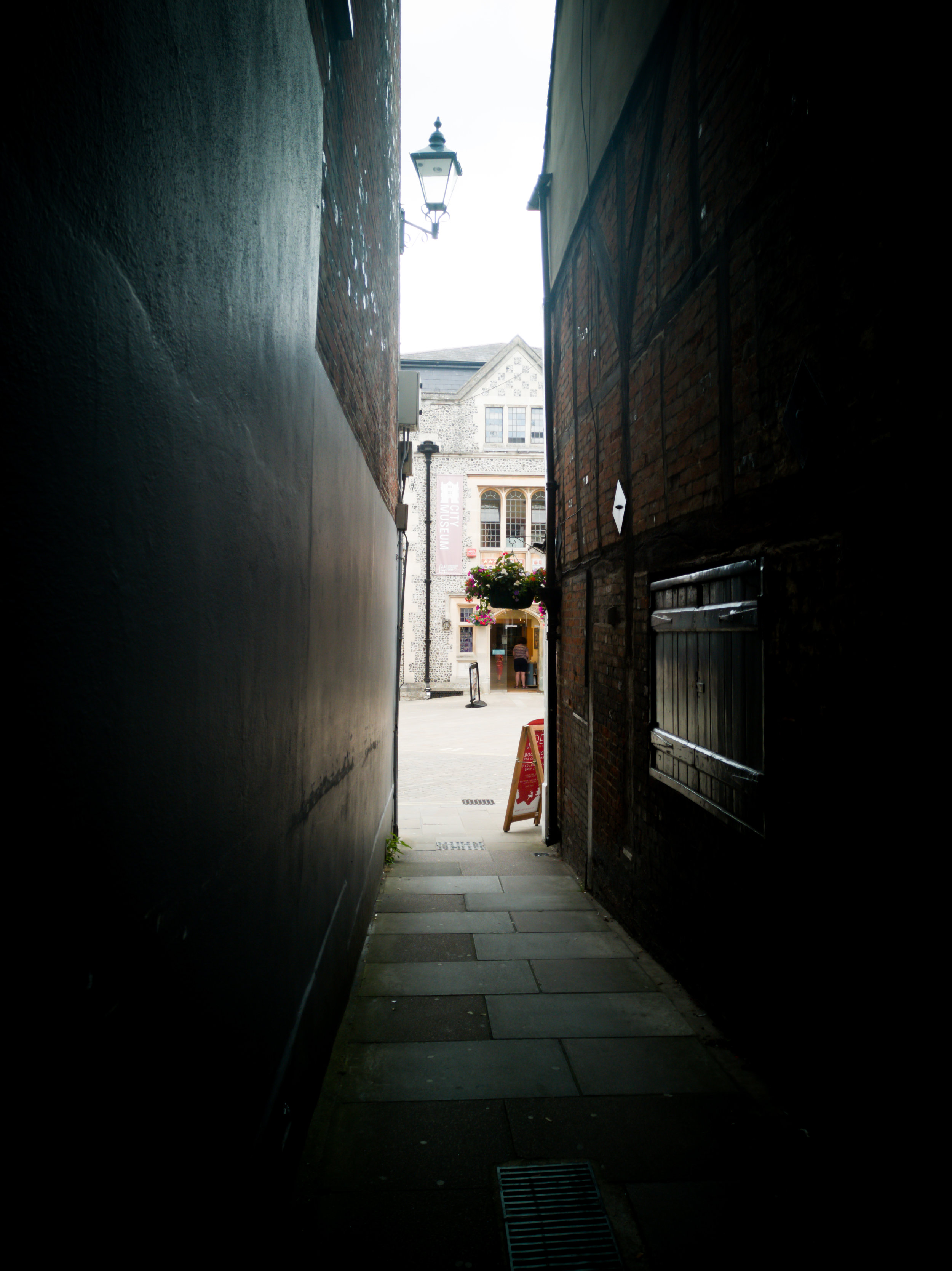 Looking down a Winchester street by Hampshire Photographer Evie Winter