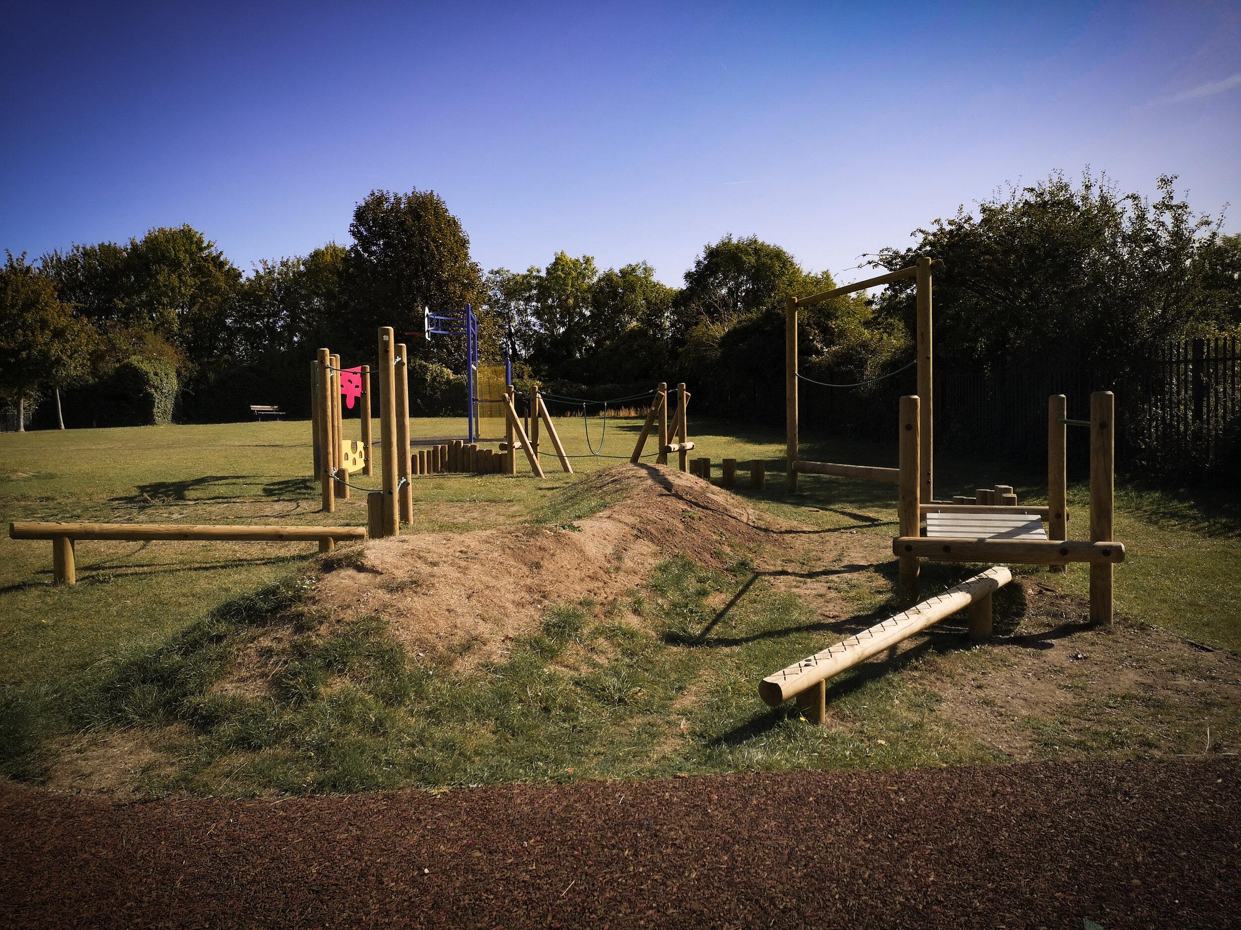 Highcliffe Playground is fun for older children too