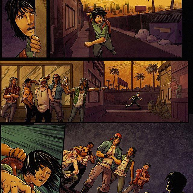 Blood on the Tracks No.4 - Page 4. Written by @carlos.gabriel.ruiz  Illustrated by @brianatkinsart  Colored by @brandonadaniels