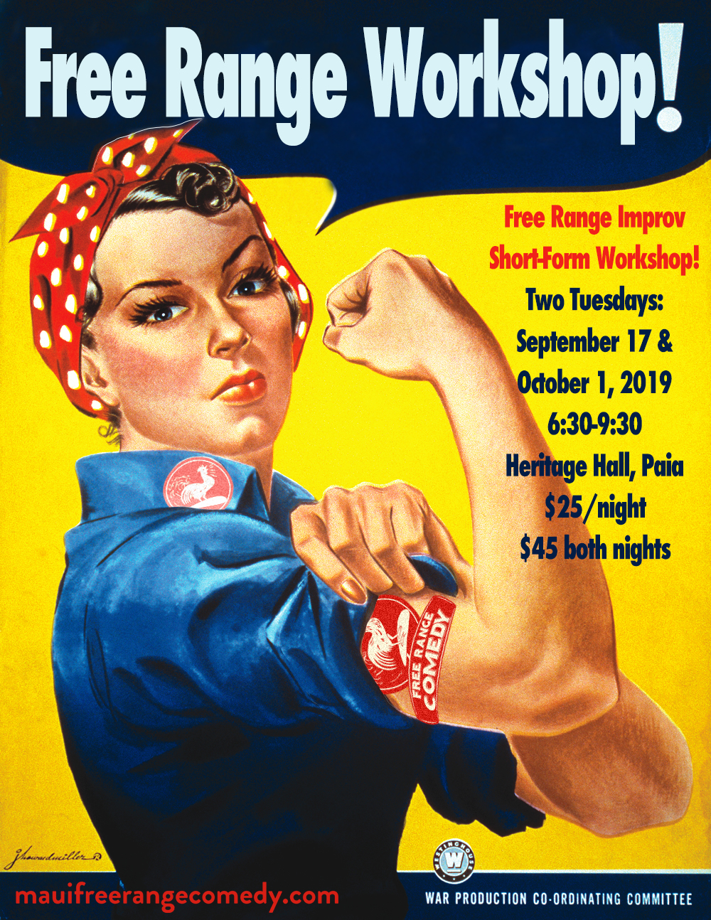 UPCOMING:      SHORT FORM WORKSHOP   Tuesday, September 17, 2019  Tuesday, October 1, 2019  6:30-9:30p  Heritage Hall, Paia, Maui  $25/night  $45 both nights     PAST:   Pupu Platter  August 23rd, 2017