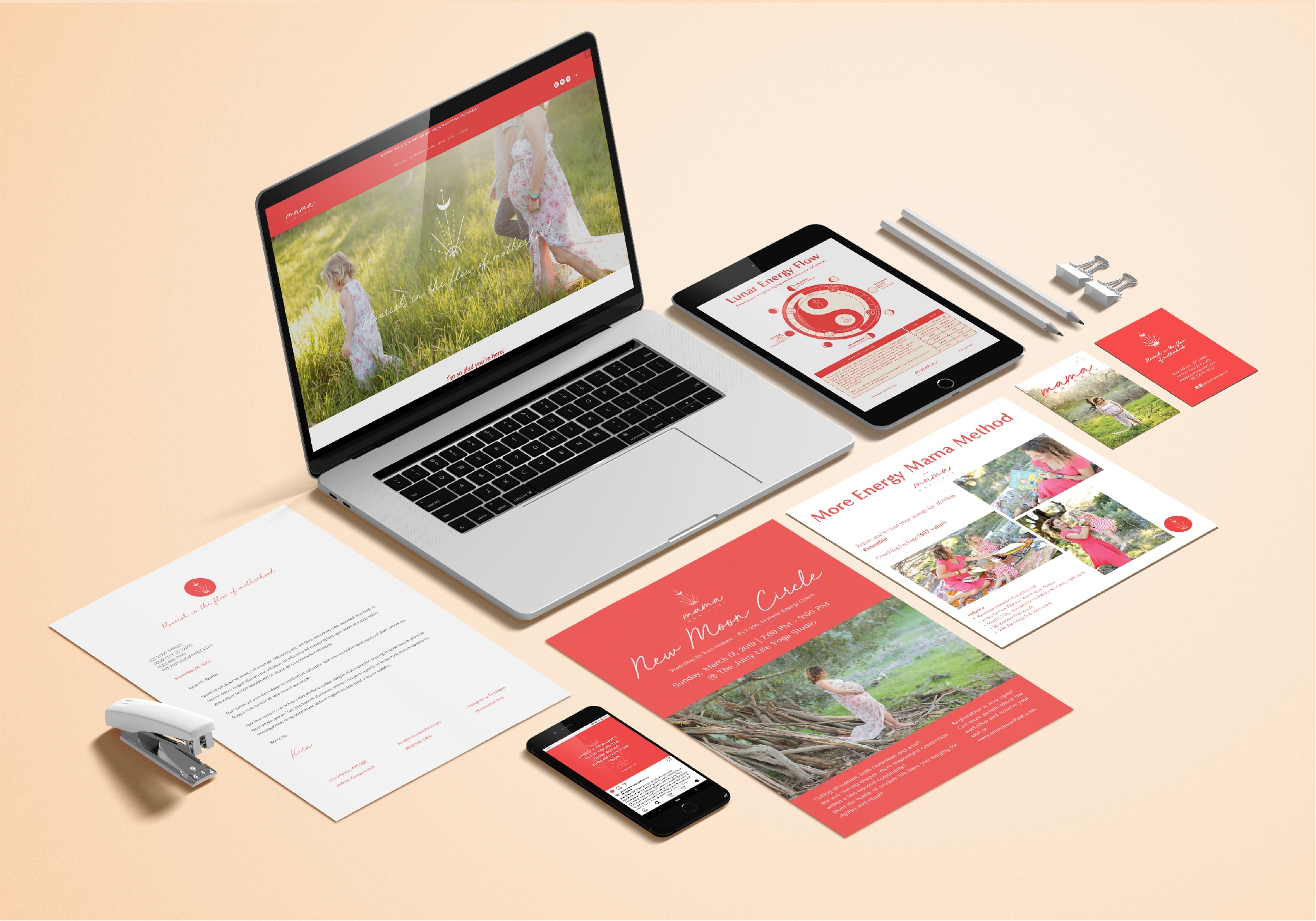 Brand + website for Mama Manifest by Kira Malone
