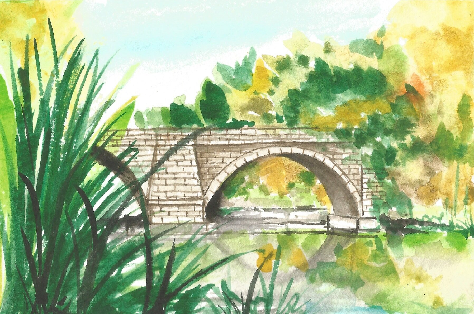 Keystone Bridge - Watercolor