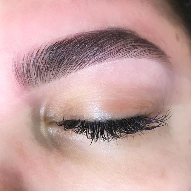 """A beautiful FULL BROW with zero fill in, only used @glossier Brown Boy Brow Gel🌸 Brows: @itsvanessaceballos  #VCFaceBeauty """"Taking Over One Face At A Time"""" #BrowDownBitches"""