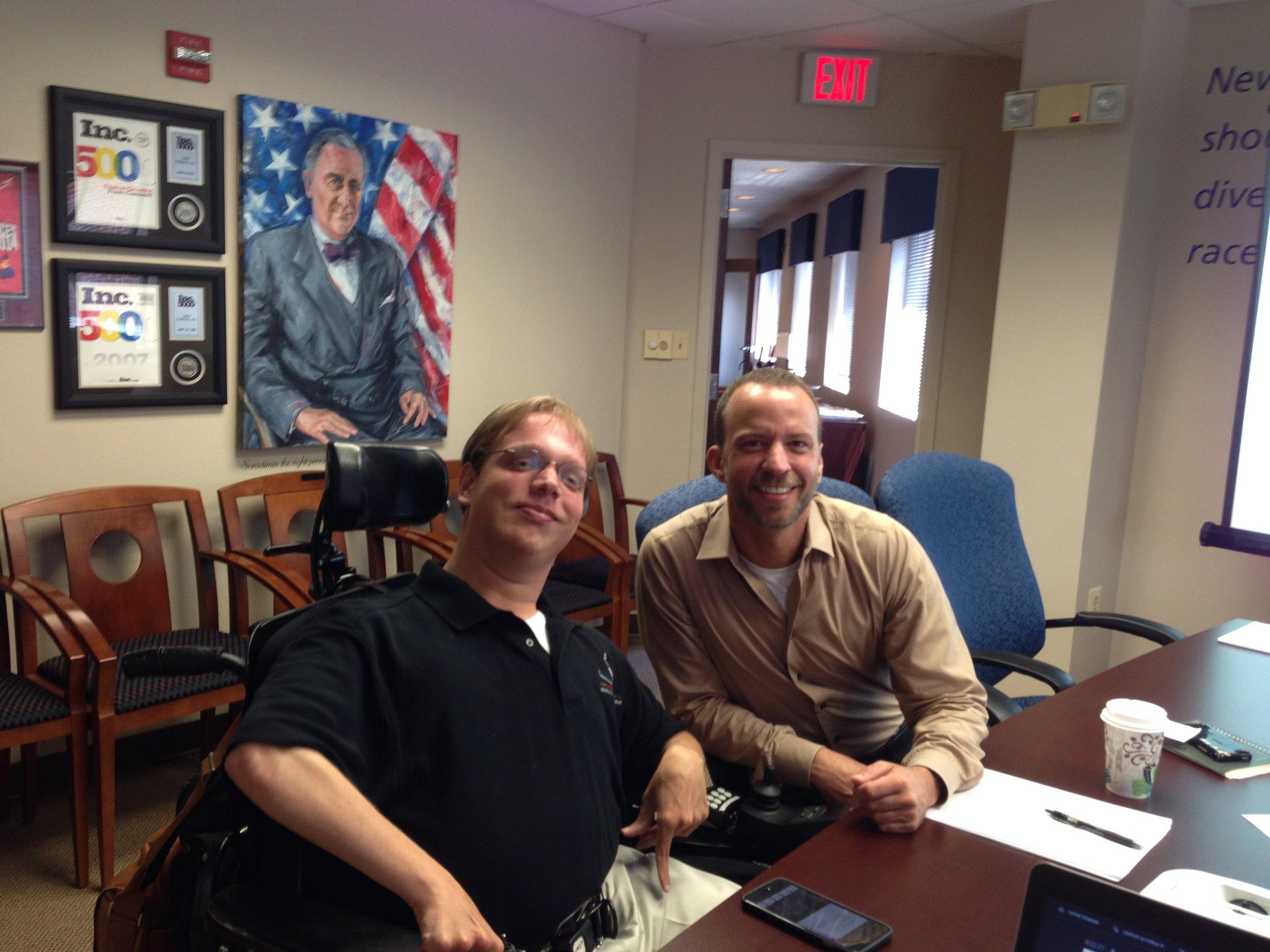 Matthew Shapiro with a business associate.