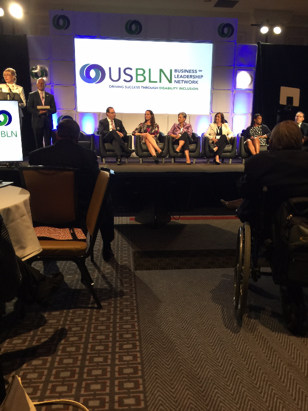 PHOTO: Panelists getting ready for a discussion at the USBLN conference in Austin, Texas