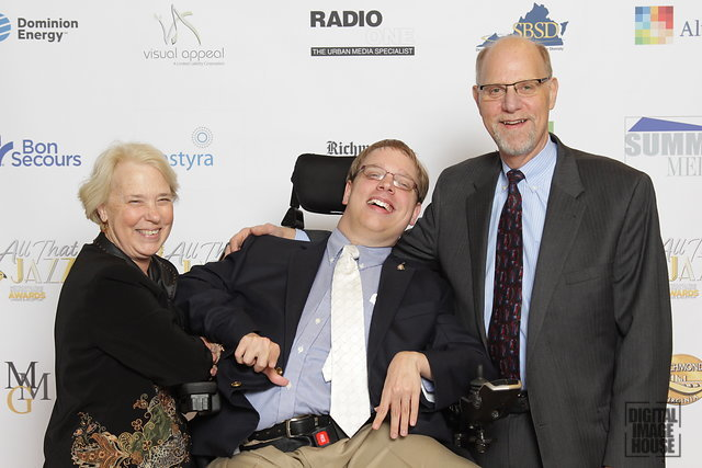 PHOTO: Matthew with his parents Eve and Barry at the Metropolitan Business League's annual awards reception.