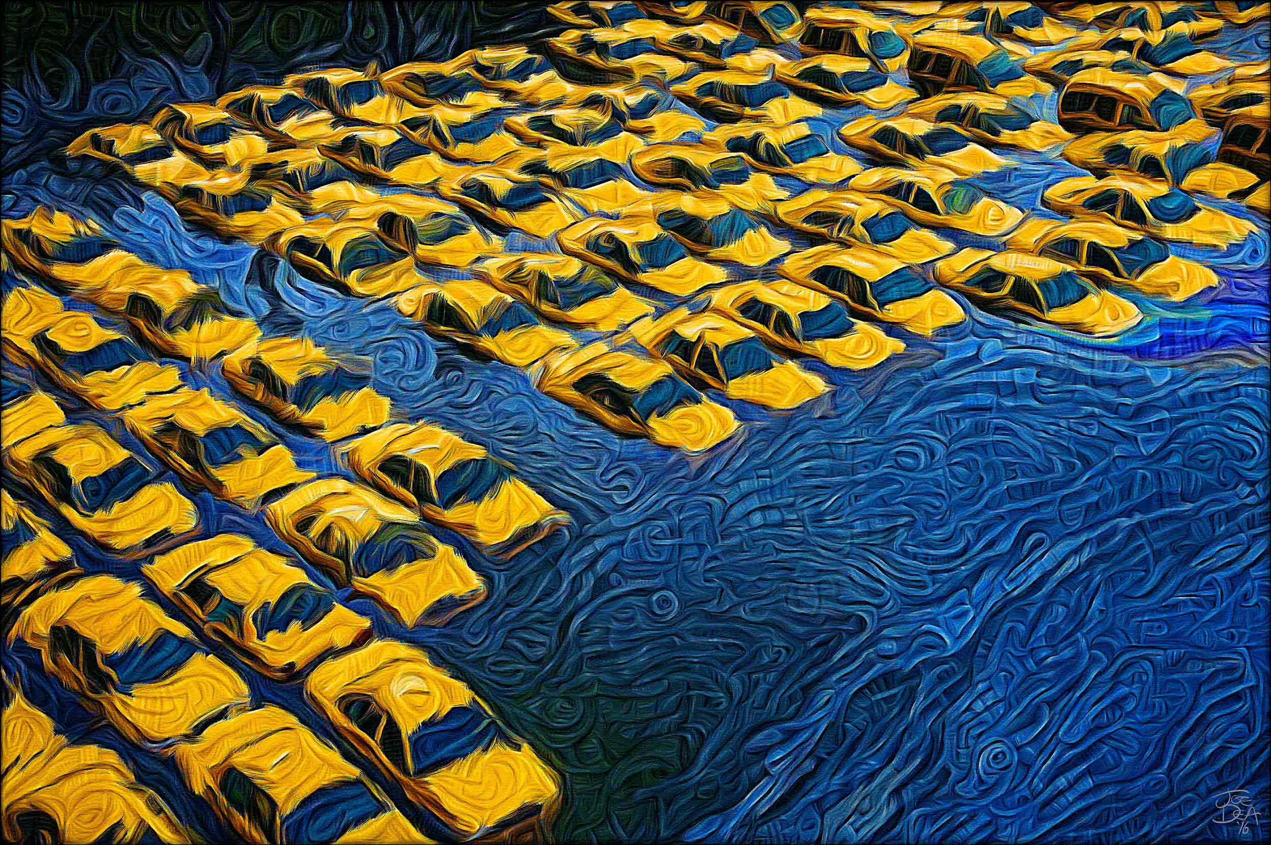 Hurricane Sandy - Submerged Taxis