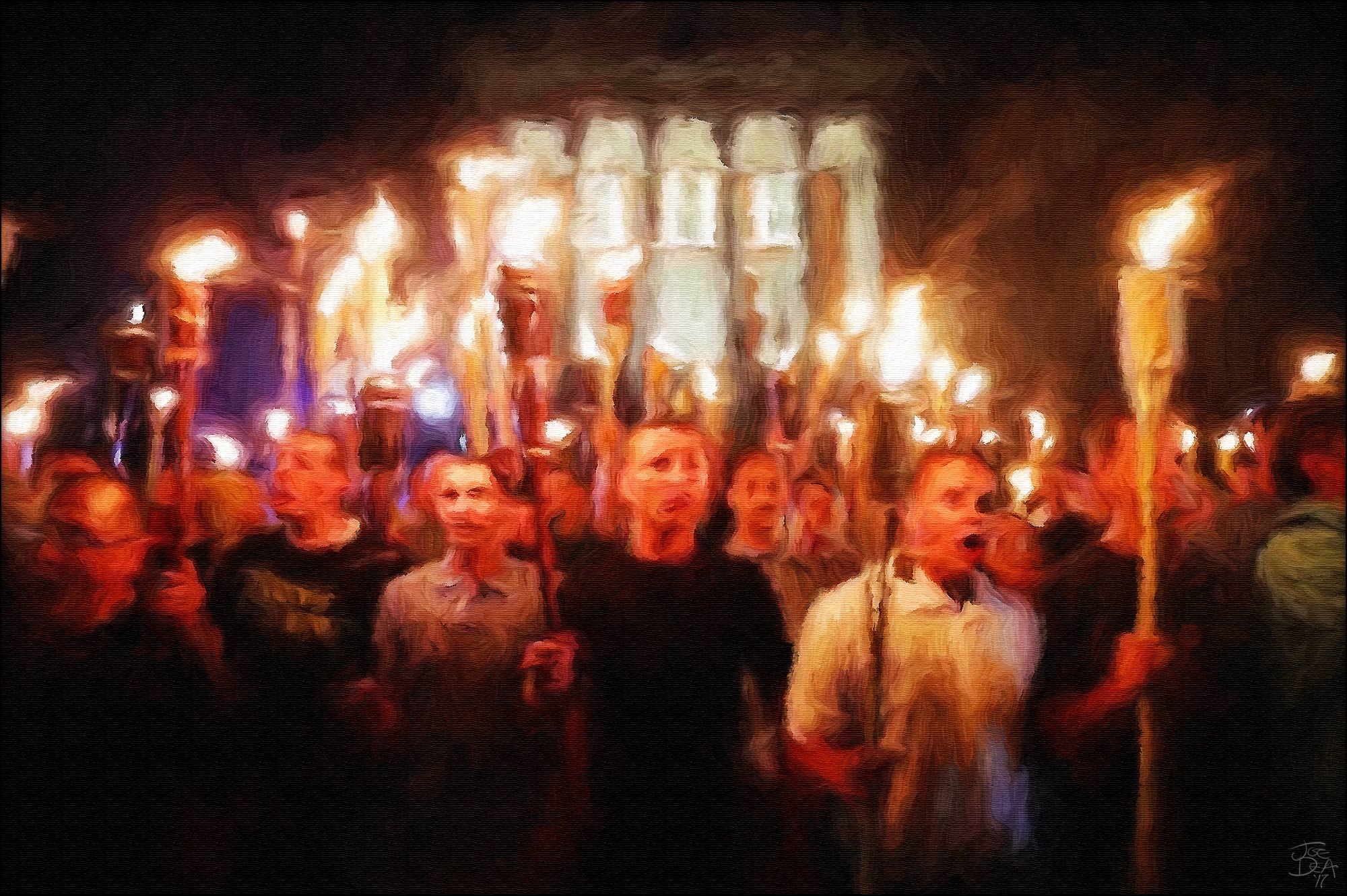 charlottesville torches