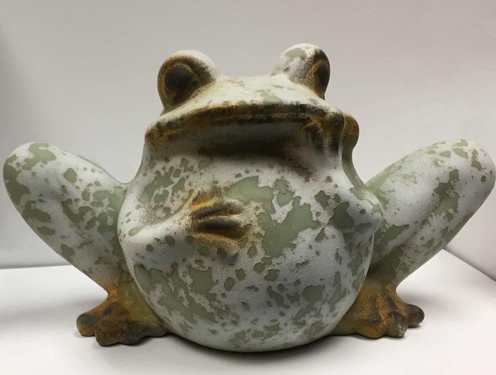 Ceramic Frog Statue Electric Avenue, Ceramic Frog Garden Decor
