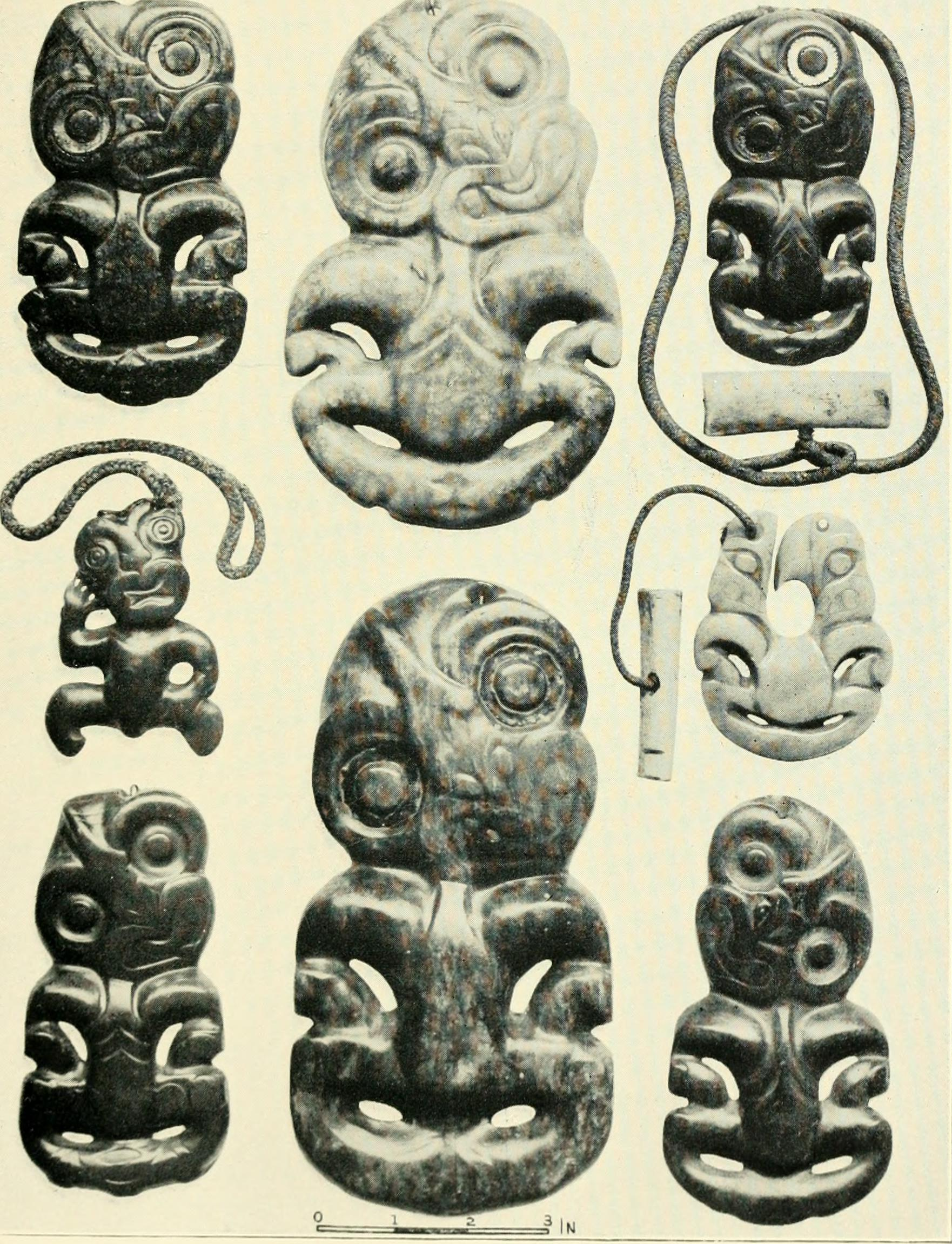 "Image from ""Handbook to the ethnographic collections"" for the British Museum (1910) Artifacts from New Zealand"