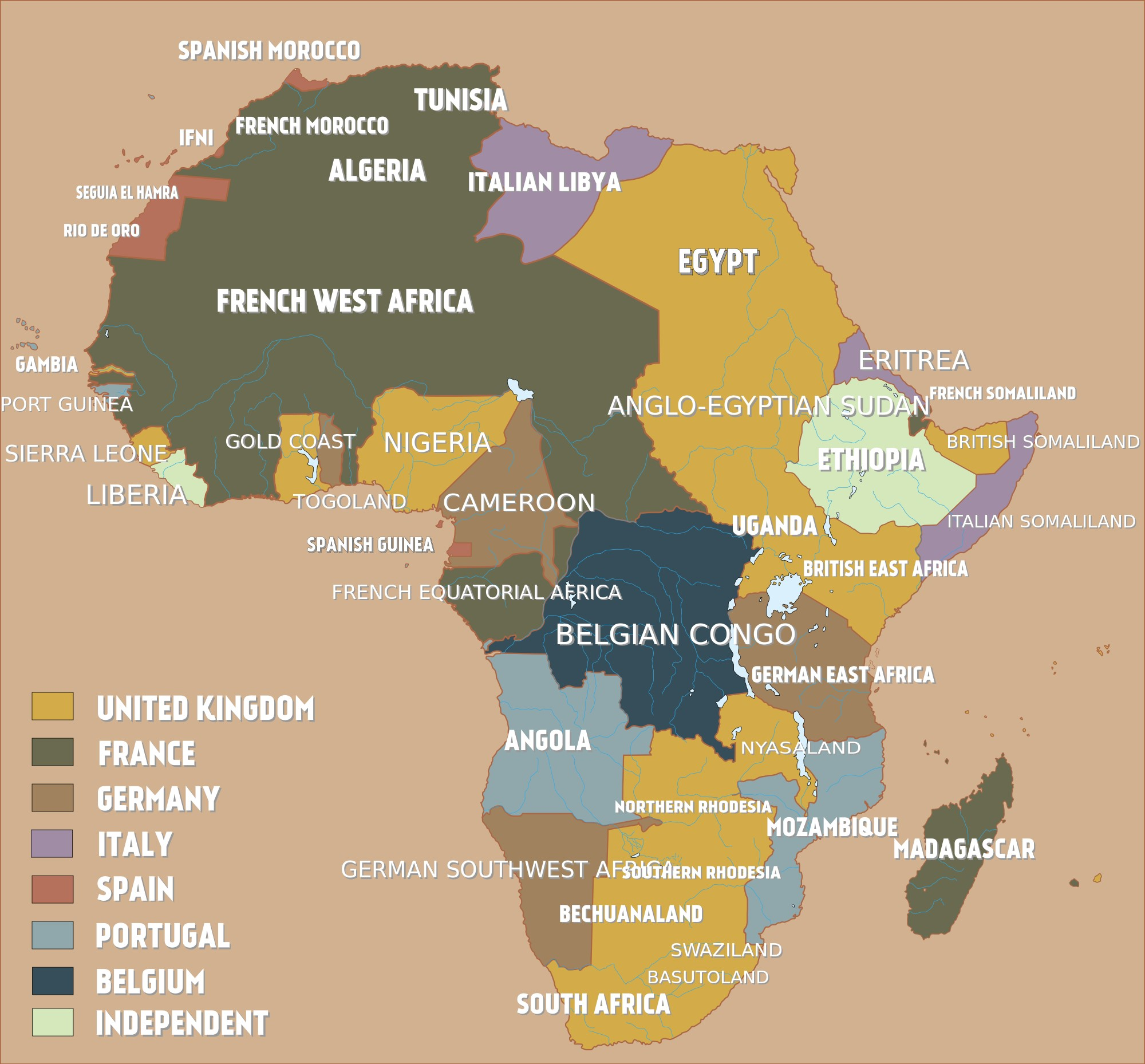 Map of Colonial Africa in the early twentieth century. Credit: Whiplashoo21.