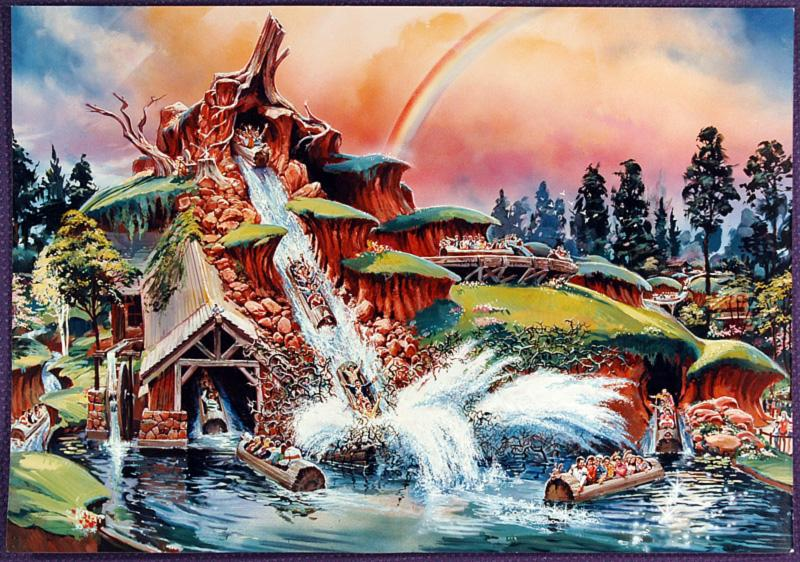 Splash Mountain Concept Art
