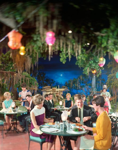 Disneyland's Blue Bayou Restaurant, 1967. Click  HERE  for source.