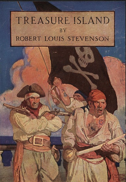 Treasure Island  by Robert Louis Stevenson (1911). Click  HERE  for image source.