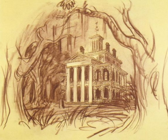 Ken Anderson's  concept art  for the Haunted Mansion