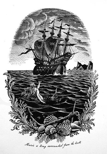 Illustration  from Andersen's  The Little Mermaid .