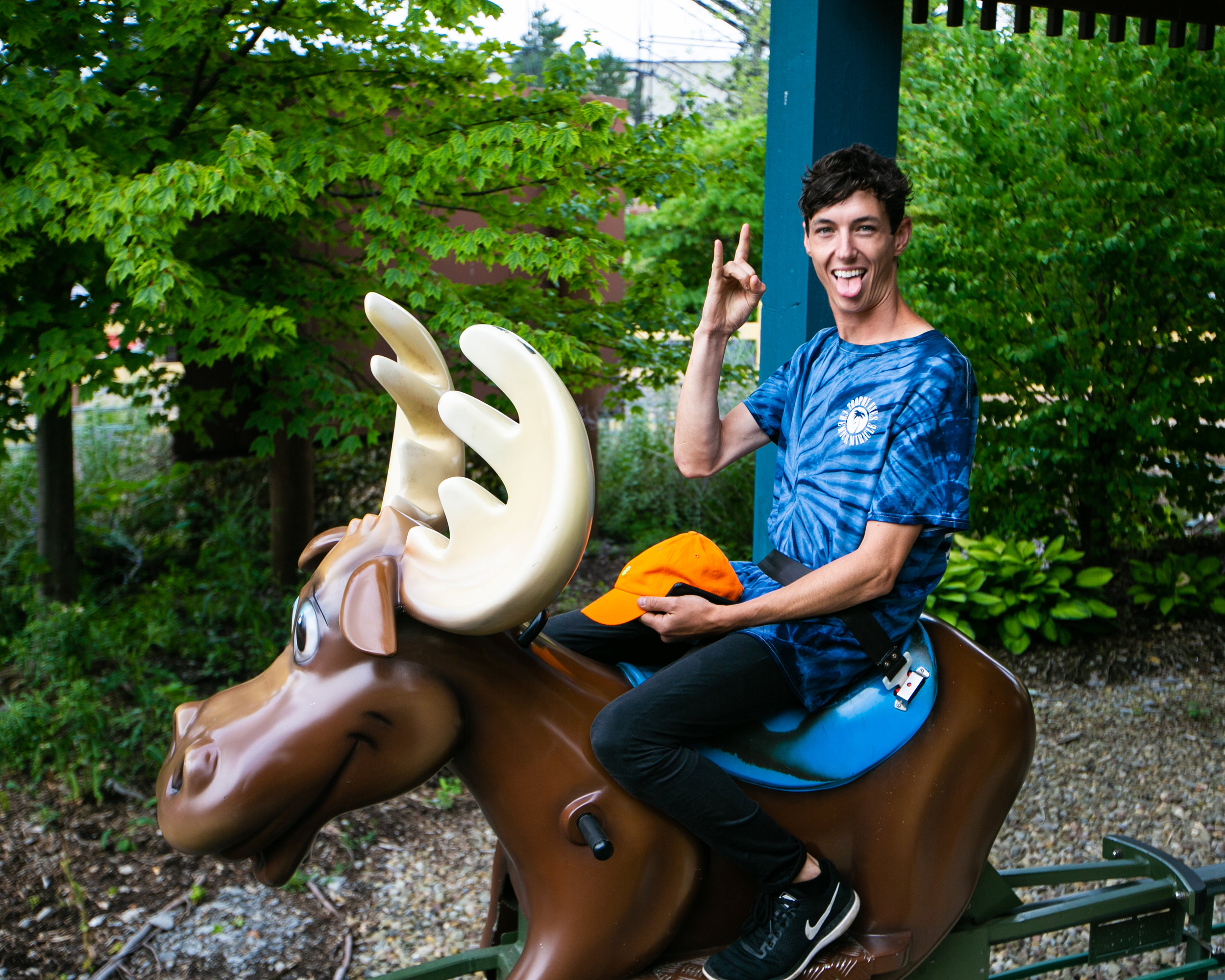 I really never thought I'd have a photo of Josh from With Confidence on a moose in my possession-- is this the peak of my career?