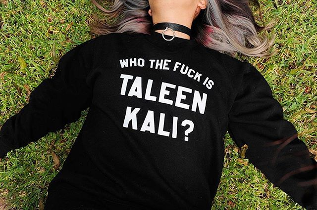 So stoked to be printing some new sweaters for @taleenkali!! Last day for her preorder - see her account for the deets 💃🏽