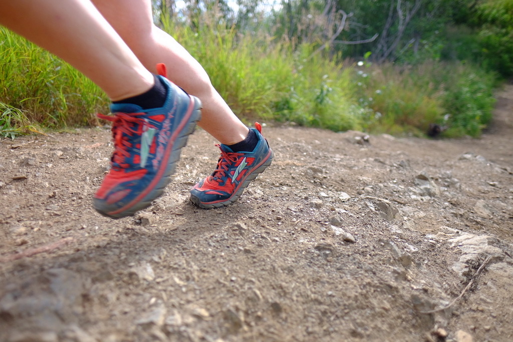 Photo credit/ Andy Hall  The Lone Peak is a sturdy, yet flexible trail shoe for fast trail running and great cross-country workouts. The newly released 3.5 is even more long lasting than the 3.0 model (shown above).