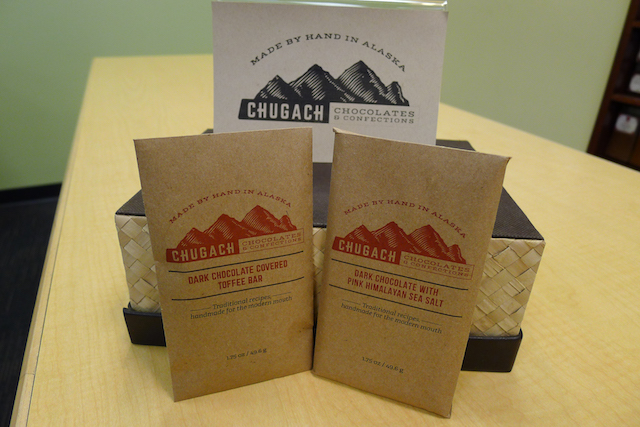 Photo by Melissa DeVaughn  No camping trip is complete with chocolate: After all, it's one of the basic food groups, right? Chugach Chocolates & Confections sells their products locally in Alaska as well as online. (chugachchocolates.com)