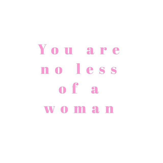 """If you are dealing with infertility or have had a miscarriage I wish I could hold your hands, look you in the eyes and say this to you face to face. ⠀⠀⠀⠀⠀⠀⠀⠀⠀ """"You are no less of a woman."""" ⠀⠀⠀⠀⠀⠀⠀⠀⠀ Though your body isn't doing the one thing that makes being a woman different from being a man. Though your body isn't carrying life right now... you are no less of a woman. ⠀⠀⠀⠀⠀⠀⠀⠀⠀⠀⠀⠀⠀⠀⠀⠀ You are no less of a woman than your best friend who gets pregnant the month her and her husband decide to try, every time. ⠀⠀⠀⠀⠀⠀⠀⠀⠀ You are no less of a woman than one who carries her babies full term with no complications. ⠀⠀⠀⠀⠀⠀⠀⠀⠀ You are still so strong and delicate. You are still so maternal and full of life, maybe not human life yet. No, you are full of something even more powerful. You're full of the Holy Spirit. The one who raised Christ from the dead. The one who can heal. The one that can fill your womb with human life no matter your diagnosis. ⠀⠀⠀⠀⠀⠀⠀⠀⠀ So I say it again, you are no less of a woman. ⠀⠀⠀⠀⠀⠀⠀⠀⠀ Don't let the enemy lie to you. Your womanhood is not defined by your motherhood or lack there of. Your womanhood comes from being a woman... it's as simple that. So stop believing the lie that your womanhood is defined by two pink lines... ⠀⠀⠀⠀⠀⠀⠀⠀⠀ No matter how many times you've only seen one pink line. ⠀⠀⠀⠀⠀⠀⠀⠀⠀ YOU ARE NO LESS OF A WOMAN!"""