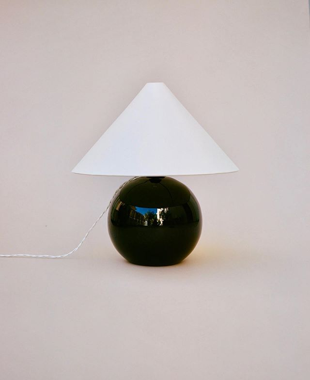 Jacques Adnet, Table Lamp, 1930s. Logic and geometry of the modern movement, not at the expense of Art Deco's opulence.