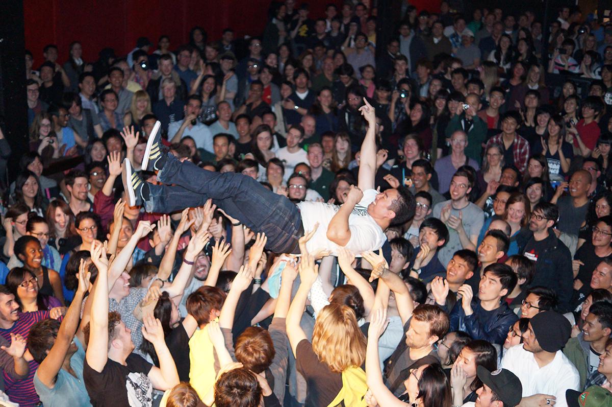 me crowd surf Toronto Lees Palace May 17 2014