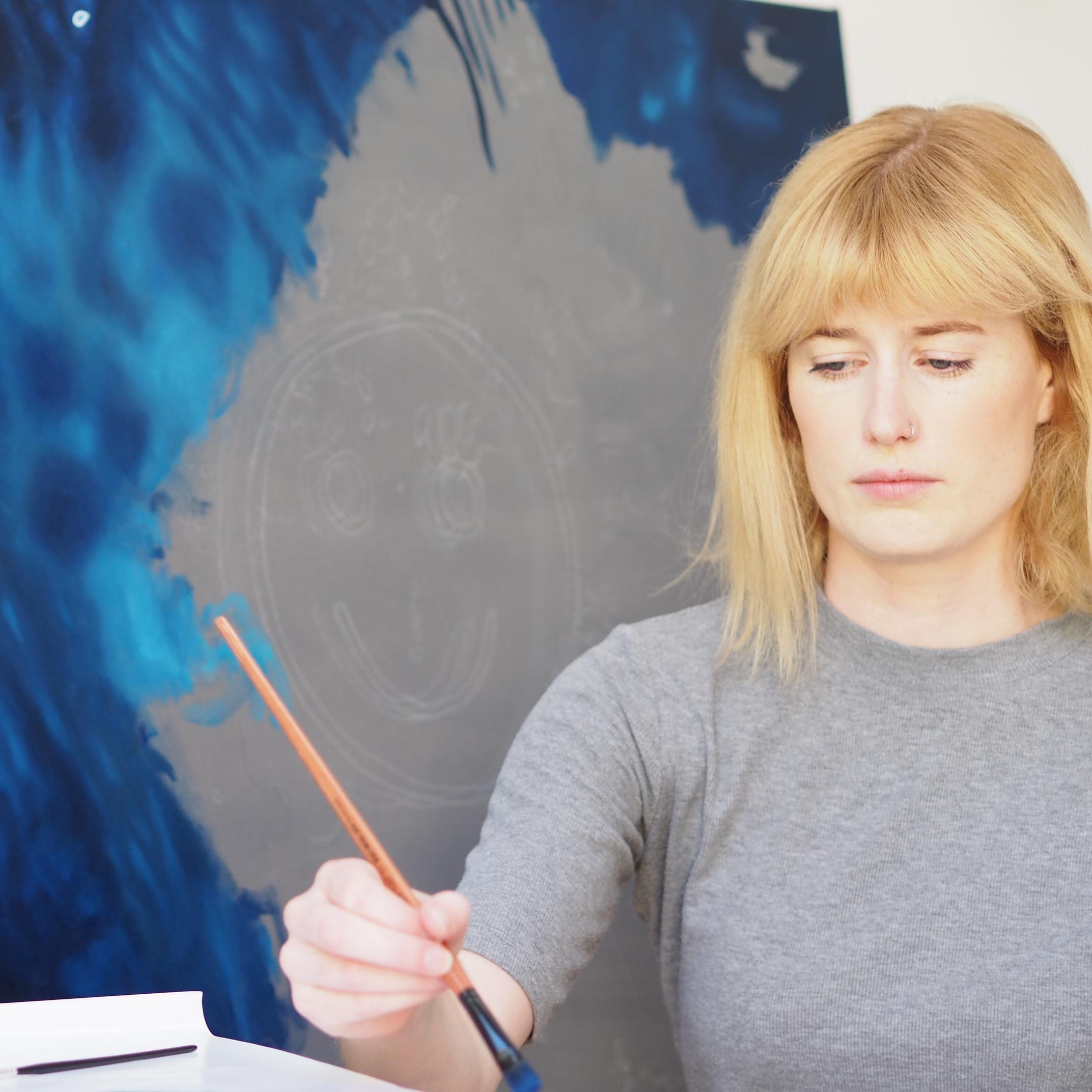 Kellie Orr In Progress Painting