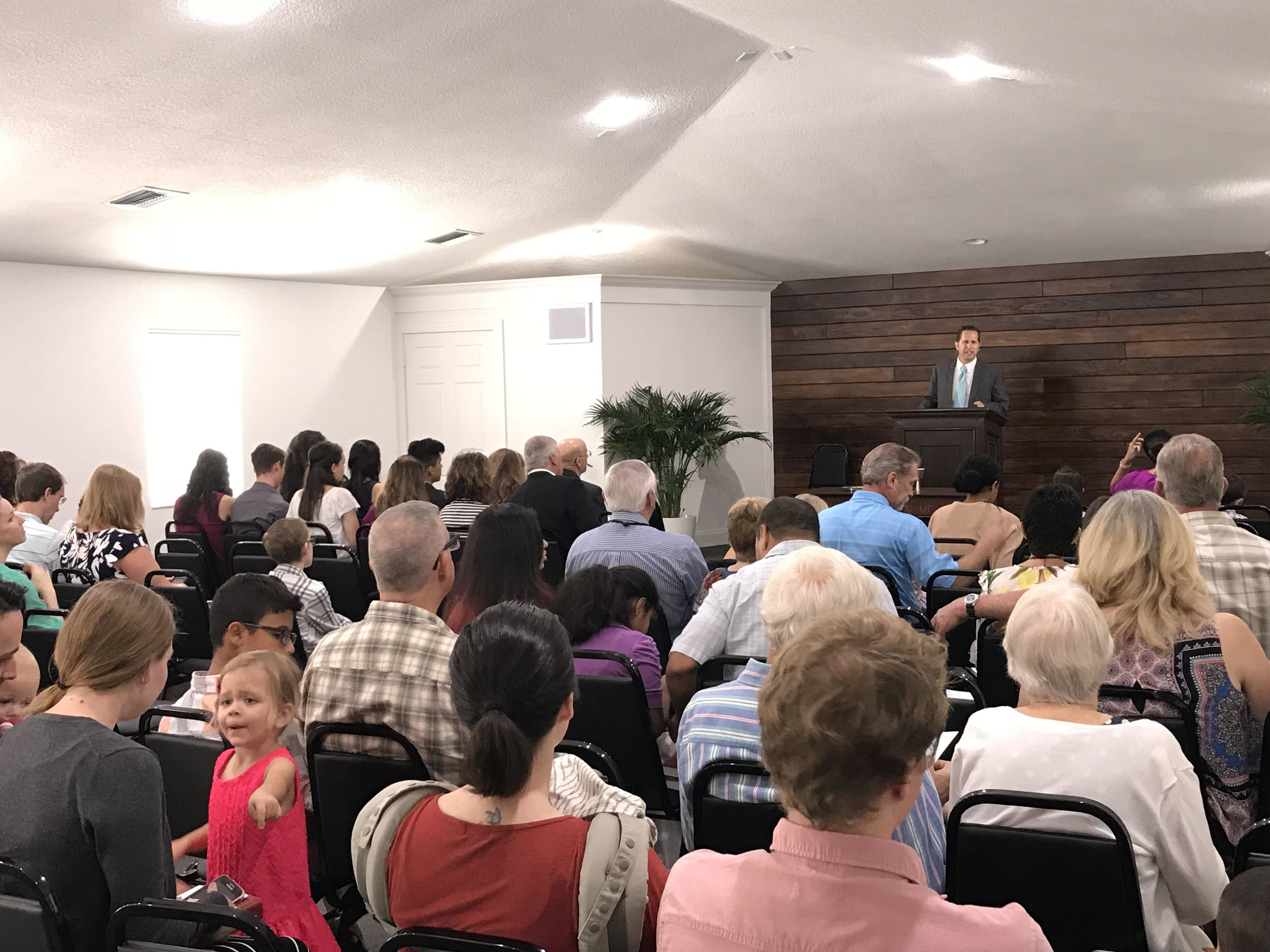 Growing - By God's grace, we were able to purchase a property at the corner of Cashmere & Del Rio Blvd. The Lord is abundantly generous and we held our first worship services at the new property on June 10, 2018. Our worship services are at 10:30 a.m. and 4:30 p.m. For more information about them, please click here.