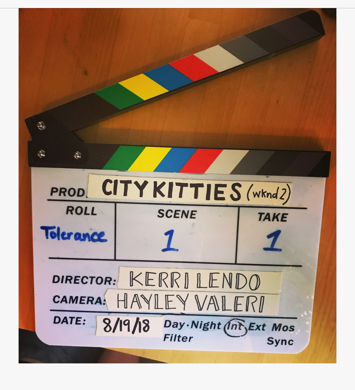 post-ing up - we are elbow deep in post production for City Kitties, and we can't thank everyone who got involved for their time, energy, and talent.Episodes will be airing soon!
