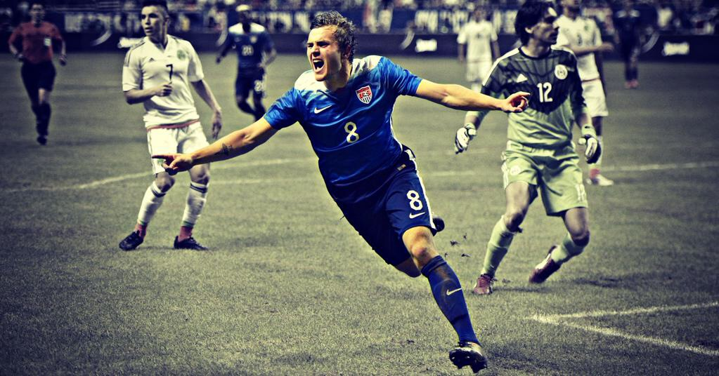 USMNT: - -First college player in almost 20 years to play and score for the National Team