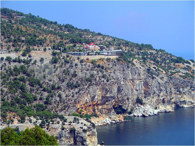 Holy Monastery of Archangel Michael on the island of Thasos, Greece