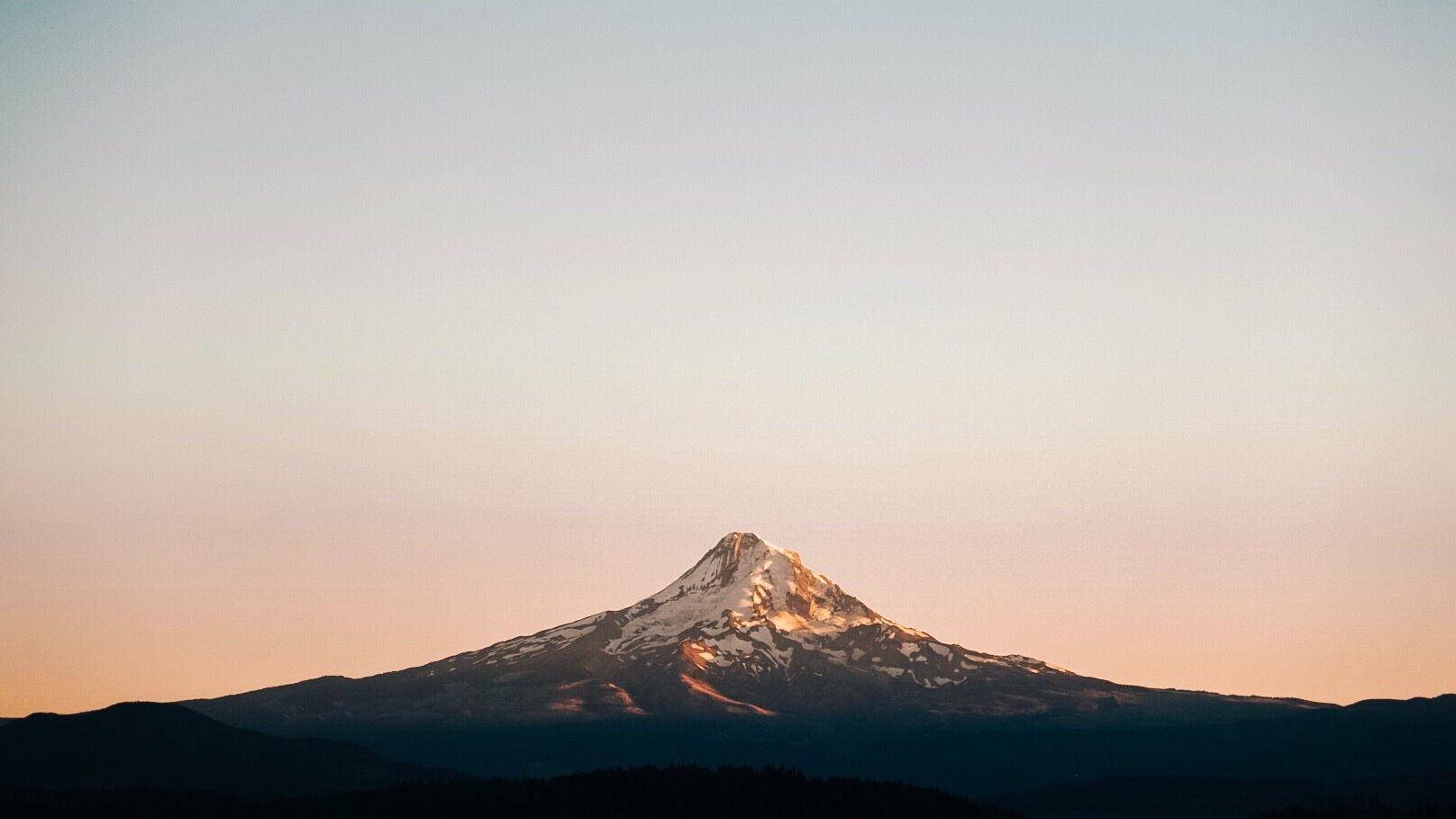 Mount Hood sunset in the Cascades|   Edward Arthur Dalton