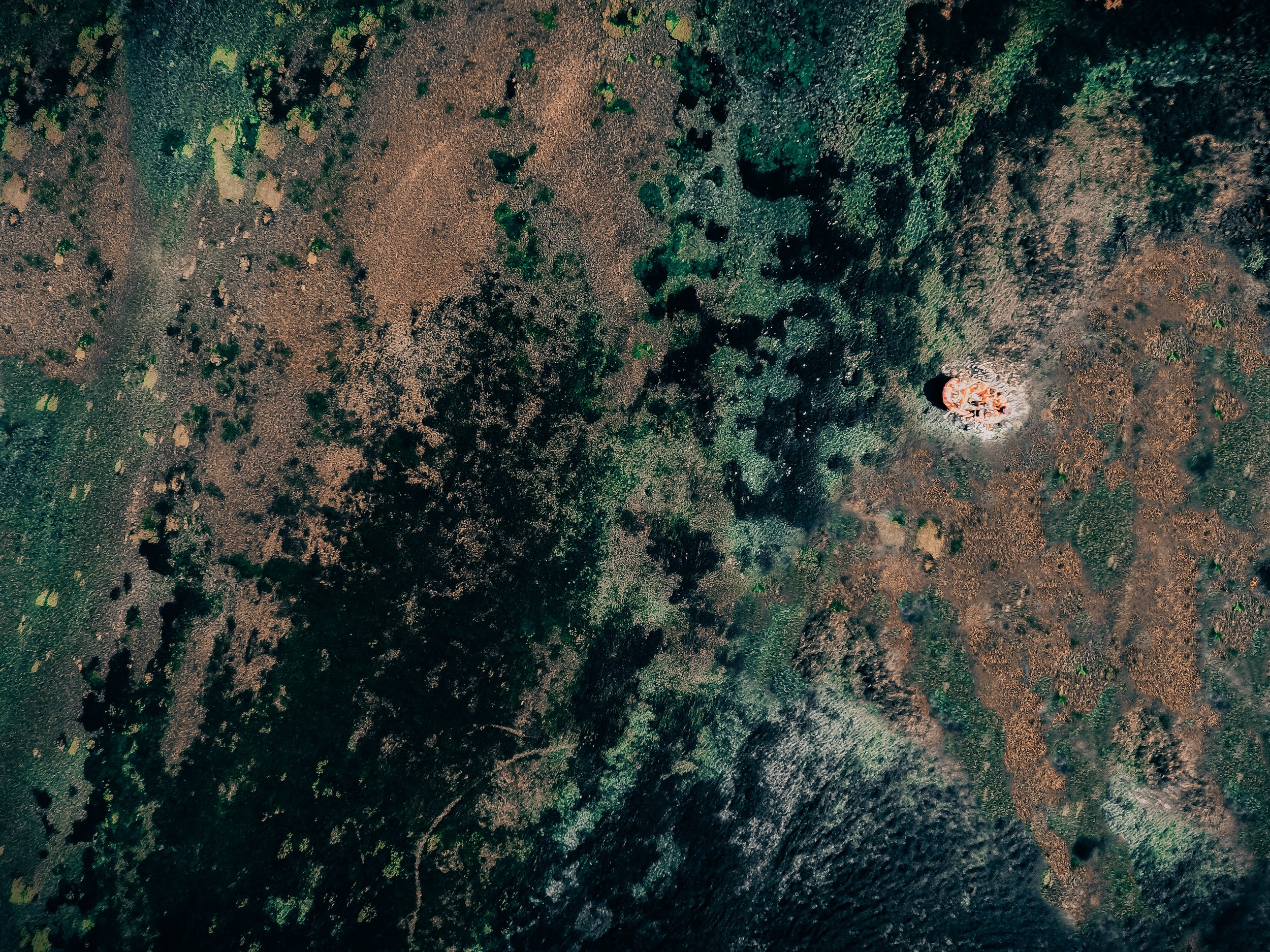 Floating on the crystal clear water of 1000 Springs State Park from above.|   Edward Arthur Dalton
