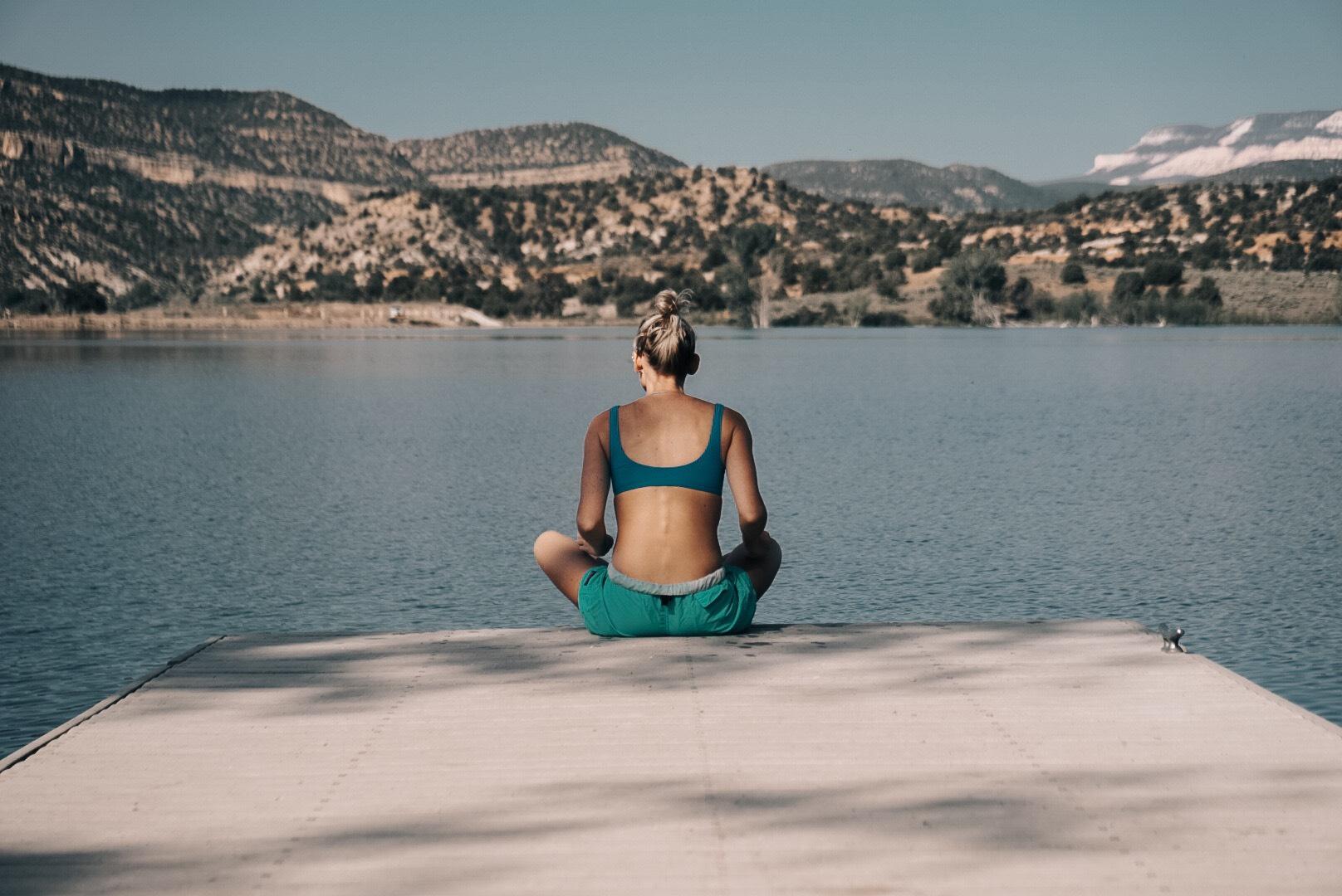 Sarah Dalton  enjoying a quiet morning in Petrified Forest State Park, Utah| Edward Arthur Dalton