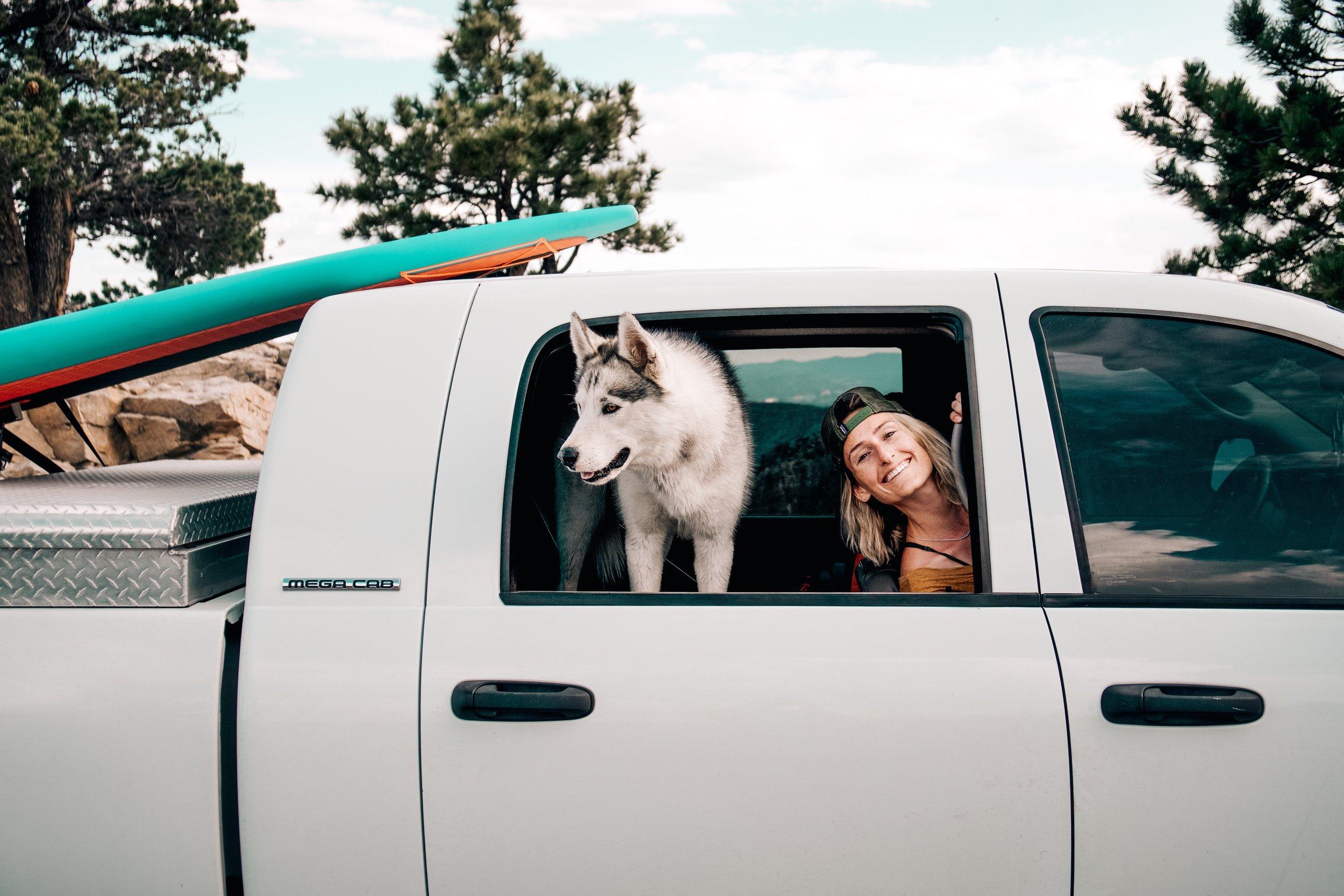 Sarah Dalton  and Ophir Dog make the best road trip buddies| Edward Arthur Dalton